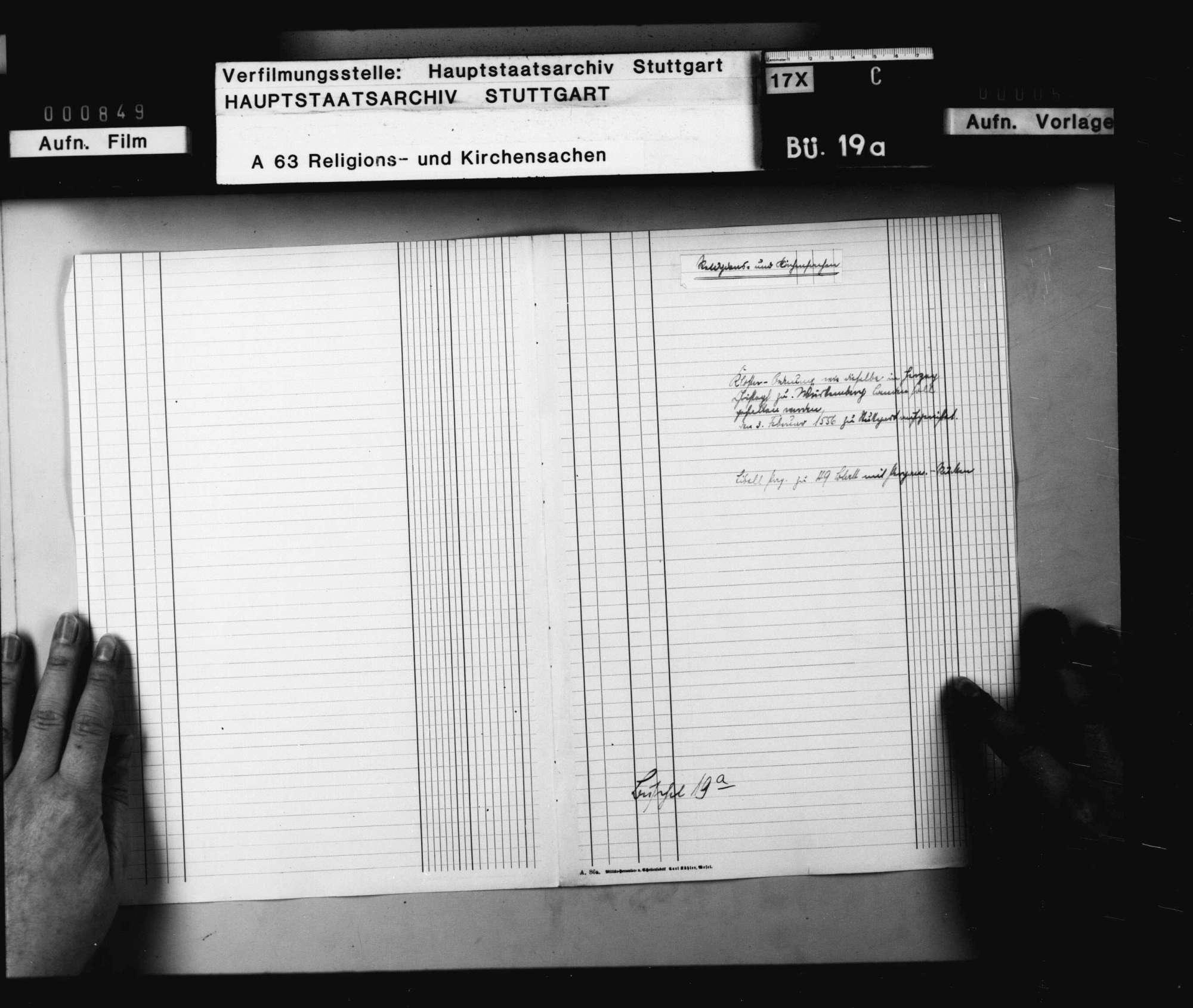 """""""Kloster-Ordnung, wie dieselbe in Herzog Christoph zu Württemberg Landen soll gehalten werden. Den 3. Februar 1556 zu Stuttgart aufgerichtet""""., Bild 1"""