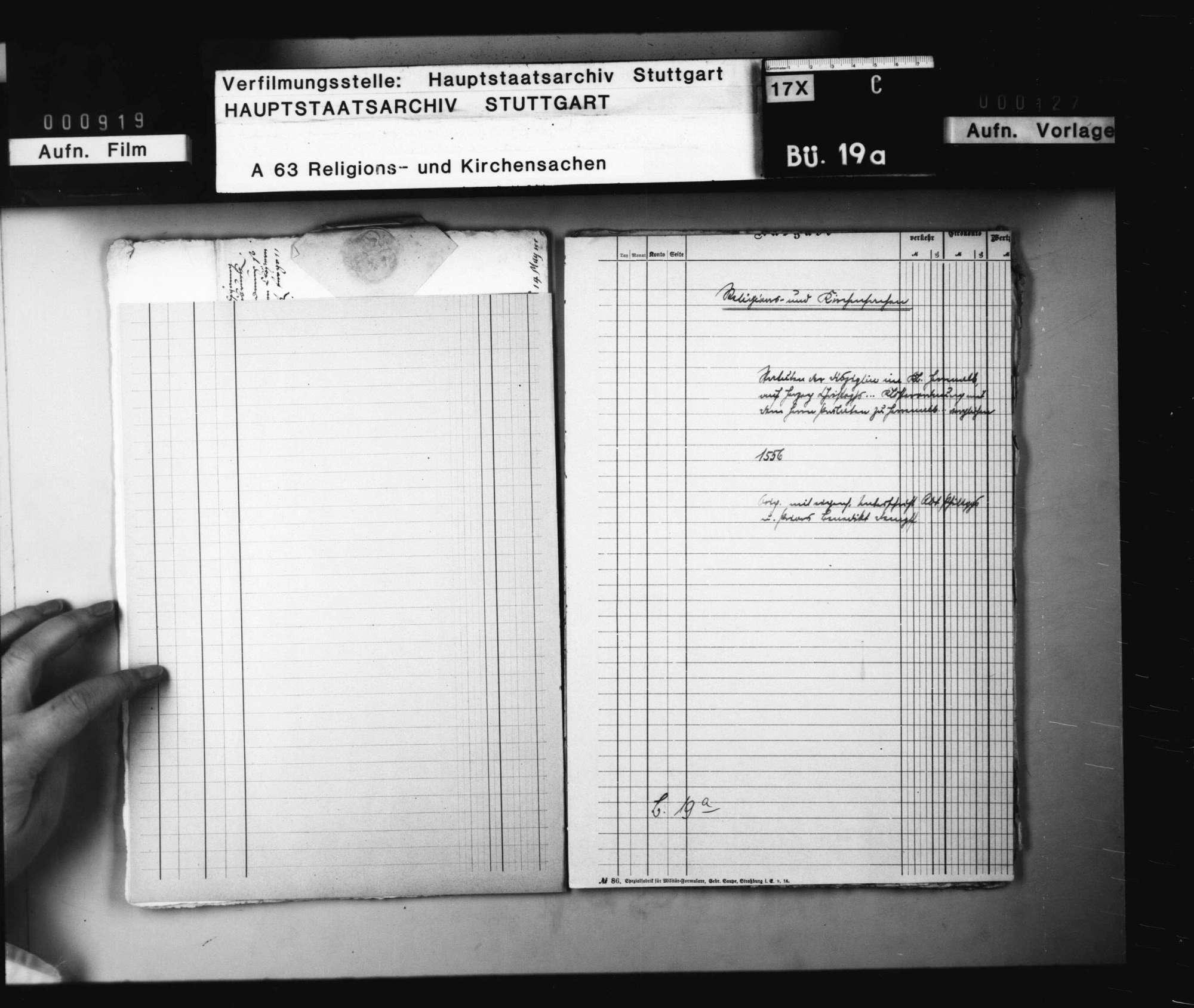 Statuten der Disziplin im Kloster Herrenalb; auf Herzog Christophs...Klosterordnung mit den Herrn Prälaten zu Herrenalb....verglichen. Original mit eigenhändiger Unterschrift Abt Philipps und Priors Benedikt Dempft., Bild 1