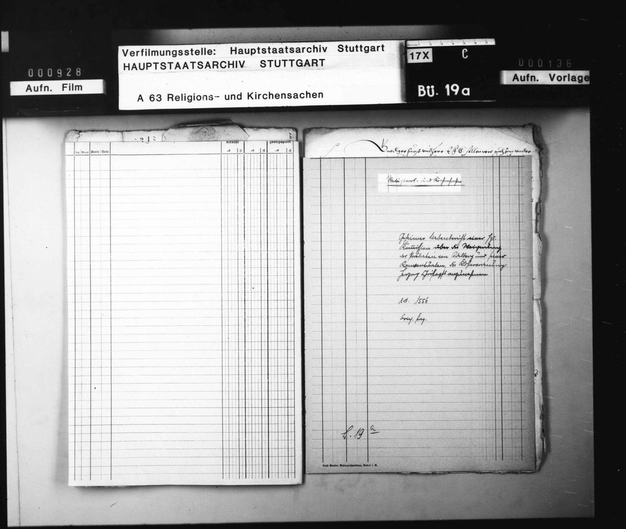 Geheimer Nebenbericht einer herzoglichen Kommission über die Weigerung des Prälaten von Adelberg und seiner Konventualen, die Klosterordnung Herzog Christophs anzunehmen. Original Papier., Bild 1