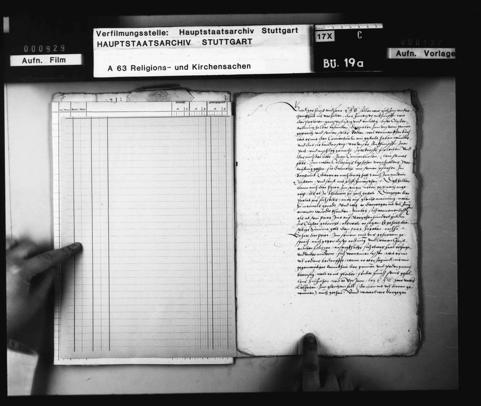 Geheimer Nebenbericht einer herzoglichen Kommission über die Weigerung des Prälaten von Adelberg und seiner Konventualen, die Klosterordnung Herzog Christophs anzunehmen. Original Papier., Bild 2