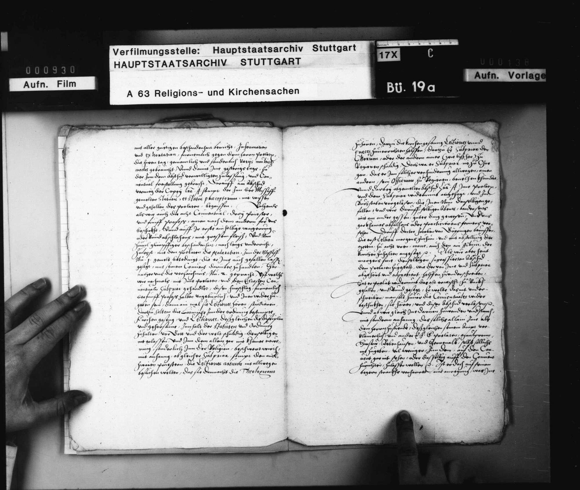Geheimer Nebenbericht einer herzoglichen Kommission über die Weigerung des Prälaten von Adelberg und seiner Konventualen, die Klosterordnung Herzog Christophs anzunehmen. Original Papier., Bild 3