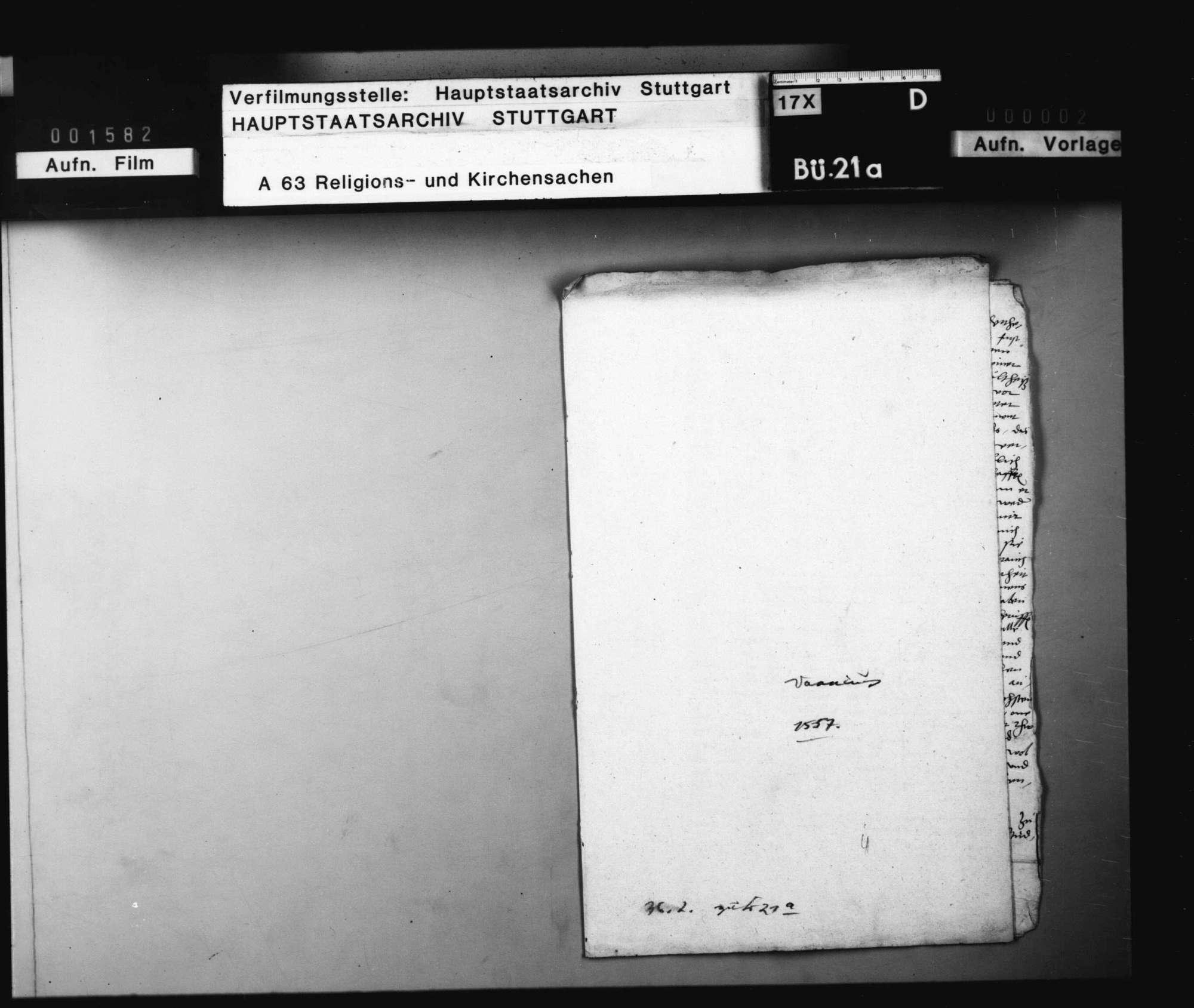 Bericht des Valentin Vannius, Pfarrers in Cannstatt, betreffend Superintendenz und Visitationssache (betreffend Gaisburg)., Bild 1