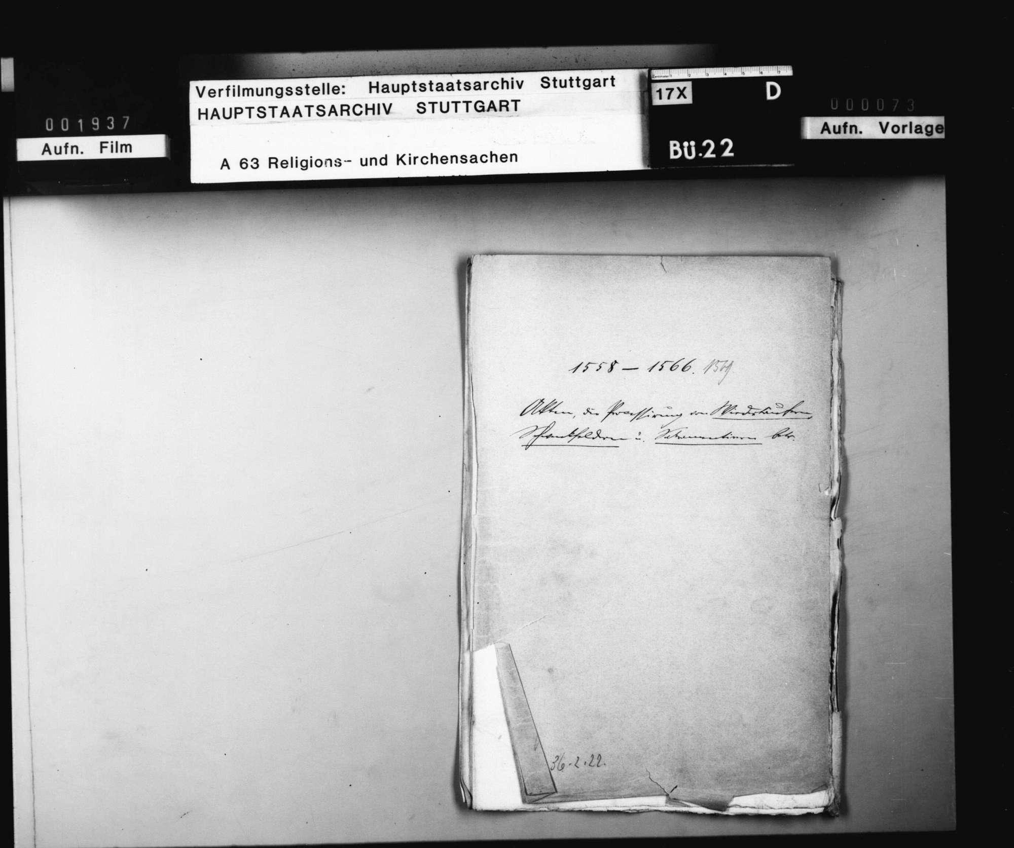 Akten, die Prozessierung der Wiedertäufer, Schwenkfelder und Sakramentierer betreffend., Bild 1