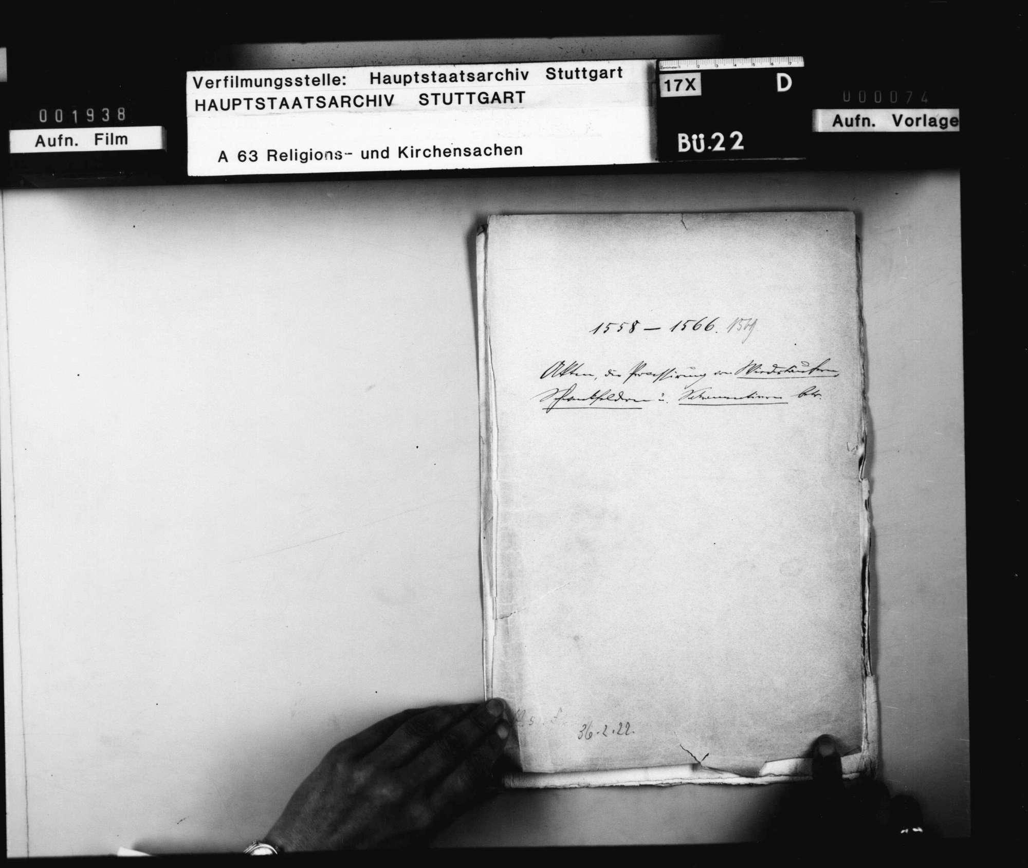 Akten, die Prozessierung der Wiedertäufer, Schwenkfelder und Sakramentierer betreffend., Bild 2