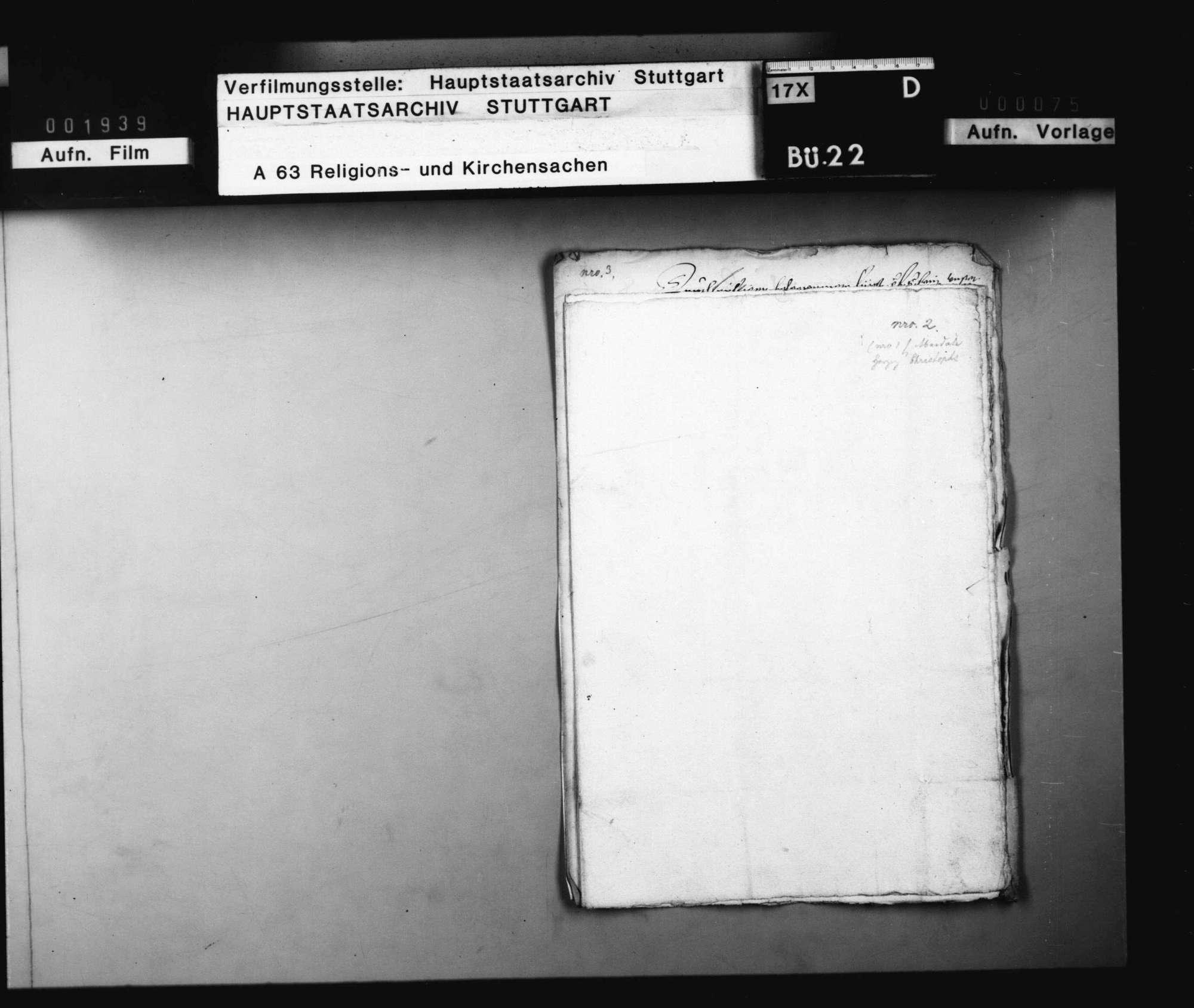 Akten, die Prozessierung der Wiedertäufer, Schwenkfelder und Sakramentierer betreffend., Bild 3
