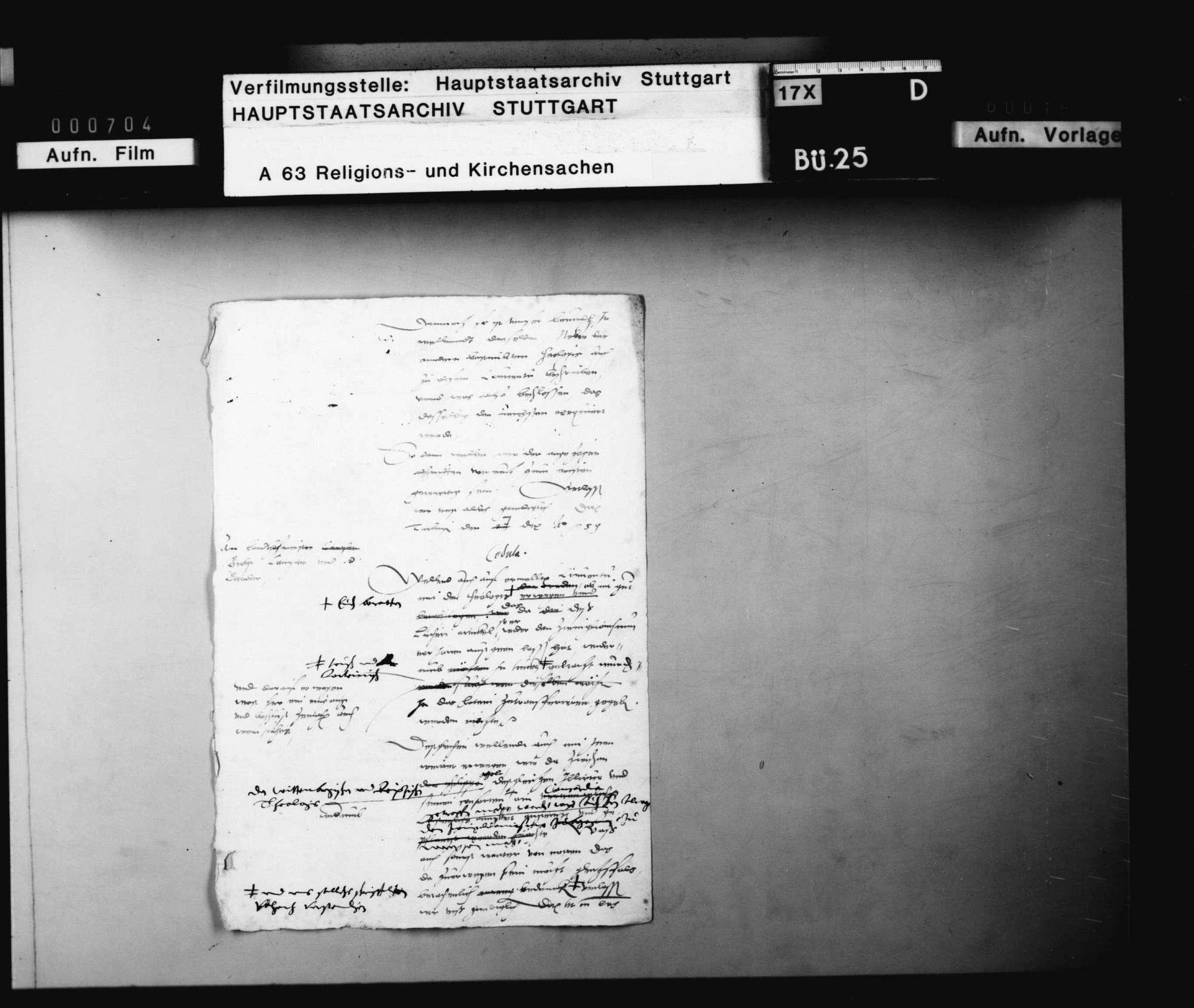 "Akten, betreffend den des ""Zwinglianismus"" verdächtigen Pfarrer Bartholomäus Hagen in Dettingen., Bild 3"