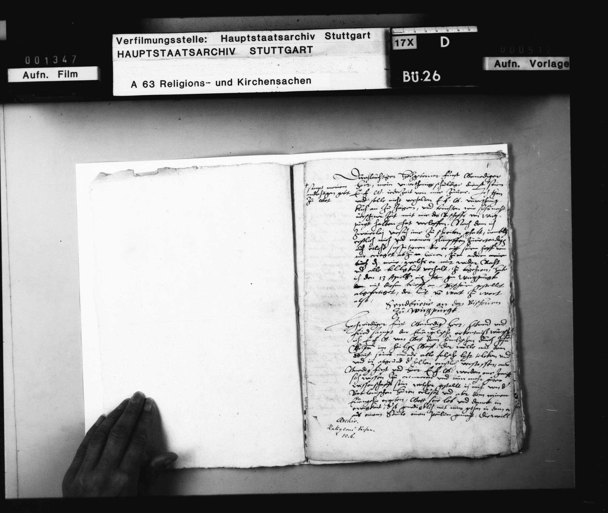 Johannis Silvani Bericht, in welchem ein Schreiben an den Bischof von Würzburg wegen seines Übergangs zu den Lutheranern inseriert ist, und wie der würzburgische Kanzler ihn wieder zu dem Papsttum zu treten bewegen wollen und deshalb insgeheim nach Tübingen gekommen., Bild 3