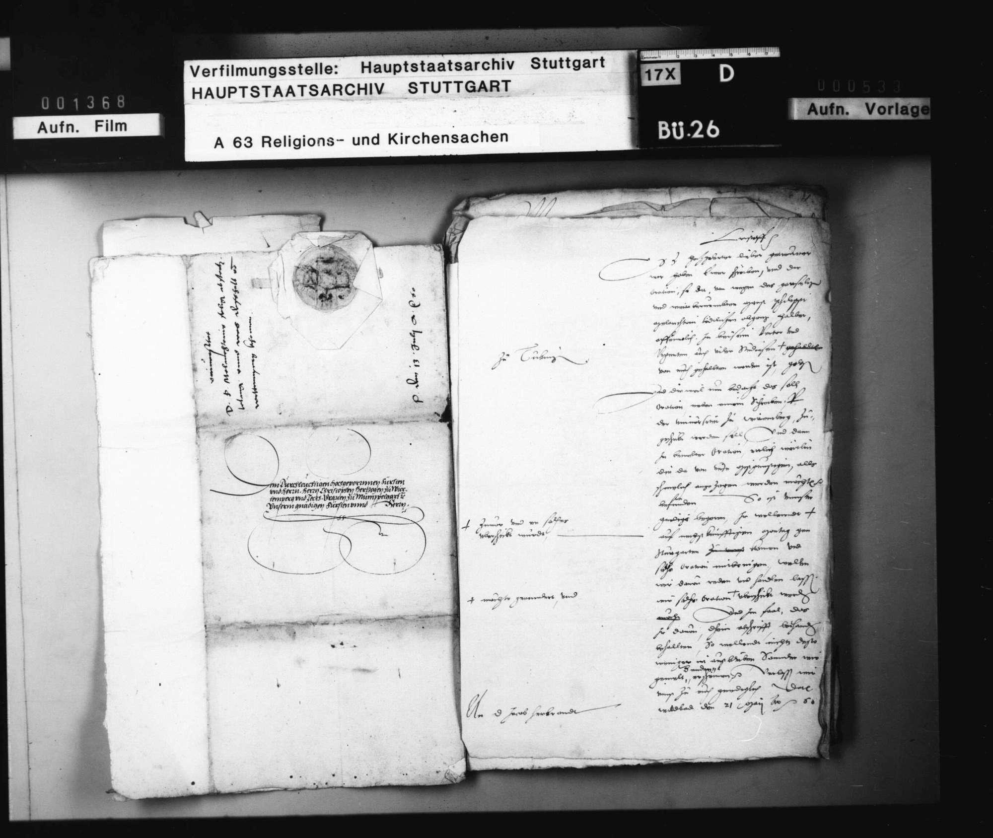 Die Übersendung der zu Tübingen auf Melanchthon gehaltenen oratio funebris nach Wittenberg., Bild 3