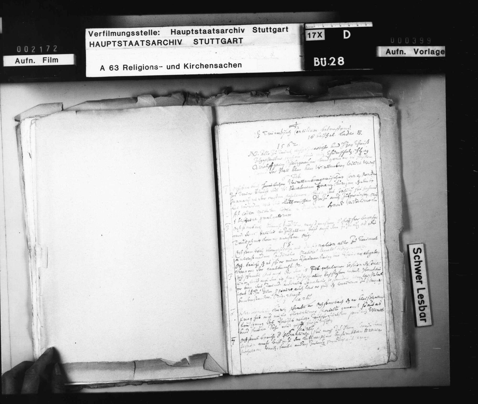 Aktenverzeichnis zu den Berichten des geheimen württembergischen Korrespondenten in Wien, Ochsenbach., Bild 2