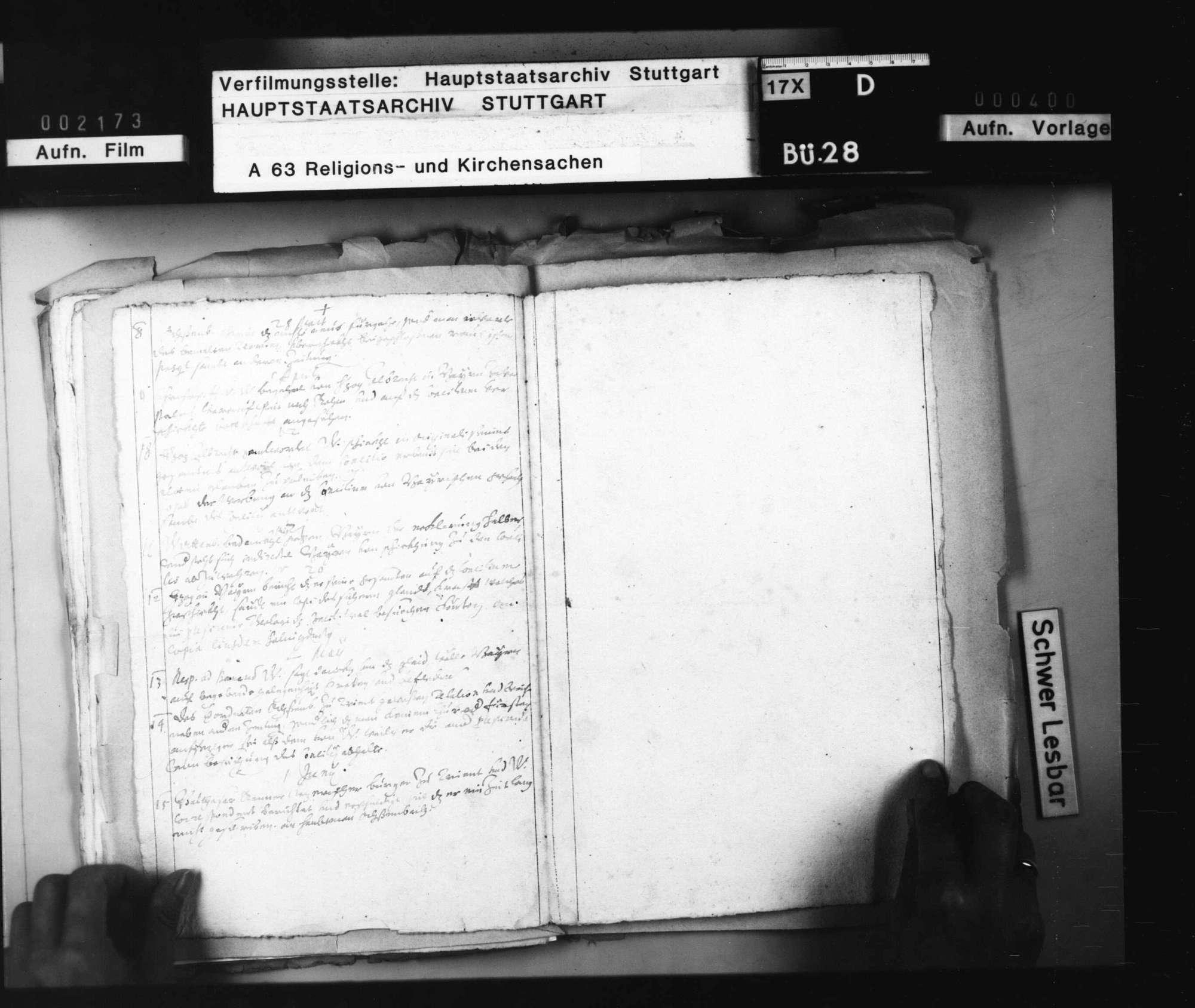 Aktenverzeichnis zu den Berichten des geheimen württembergischen Korrespondenten in Wien, Ochsenbach., Bild 3