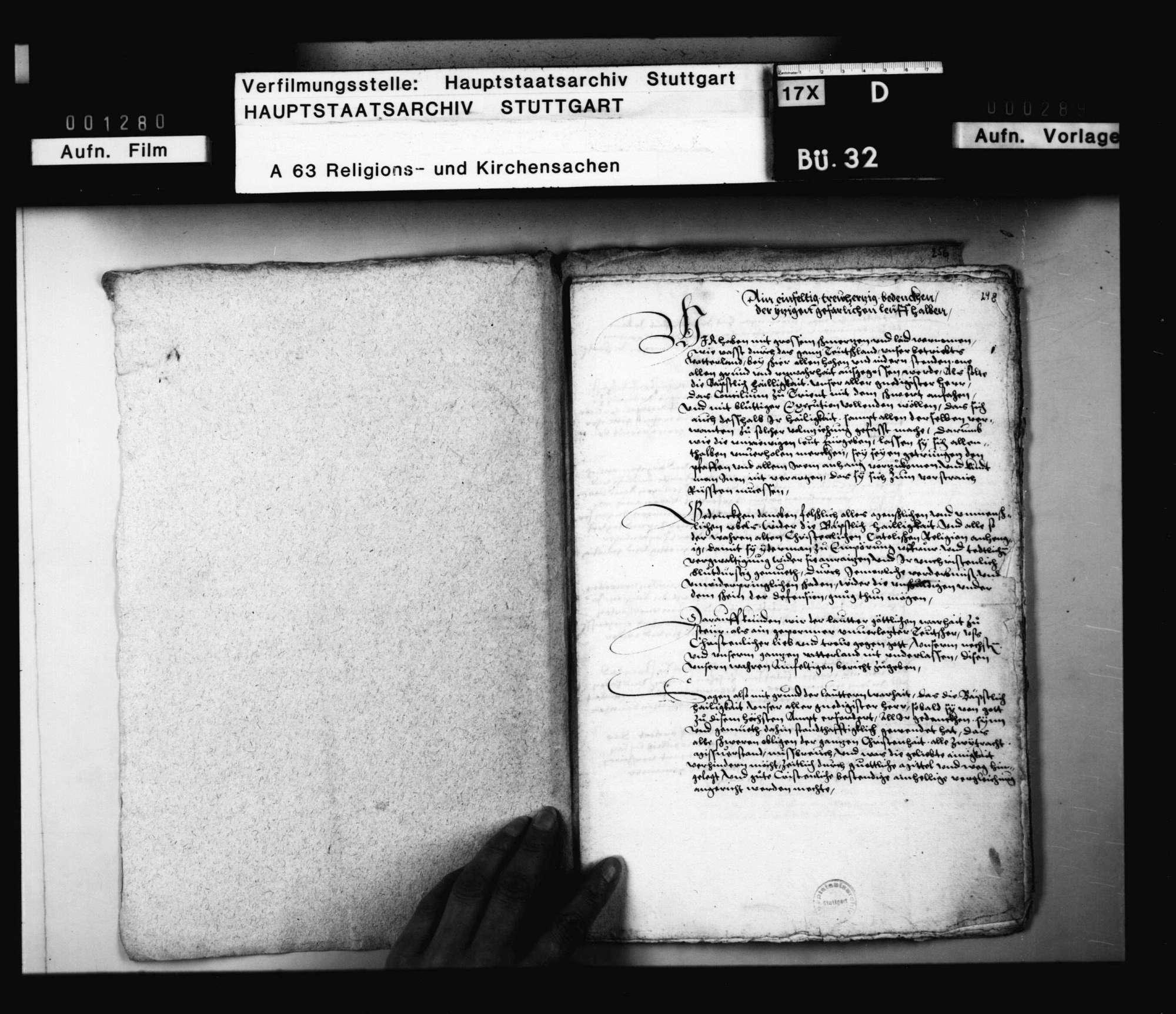 Zeitung aus Rom, dass der Papst und das Konzil aufrichtig handeln und verfahren wolle., Bild 2