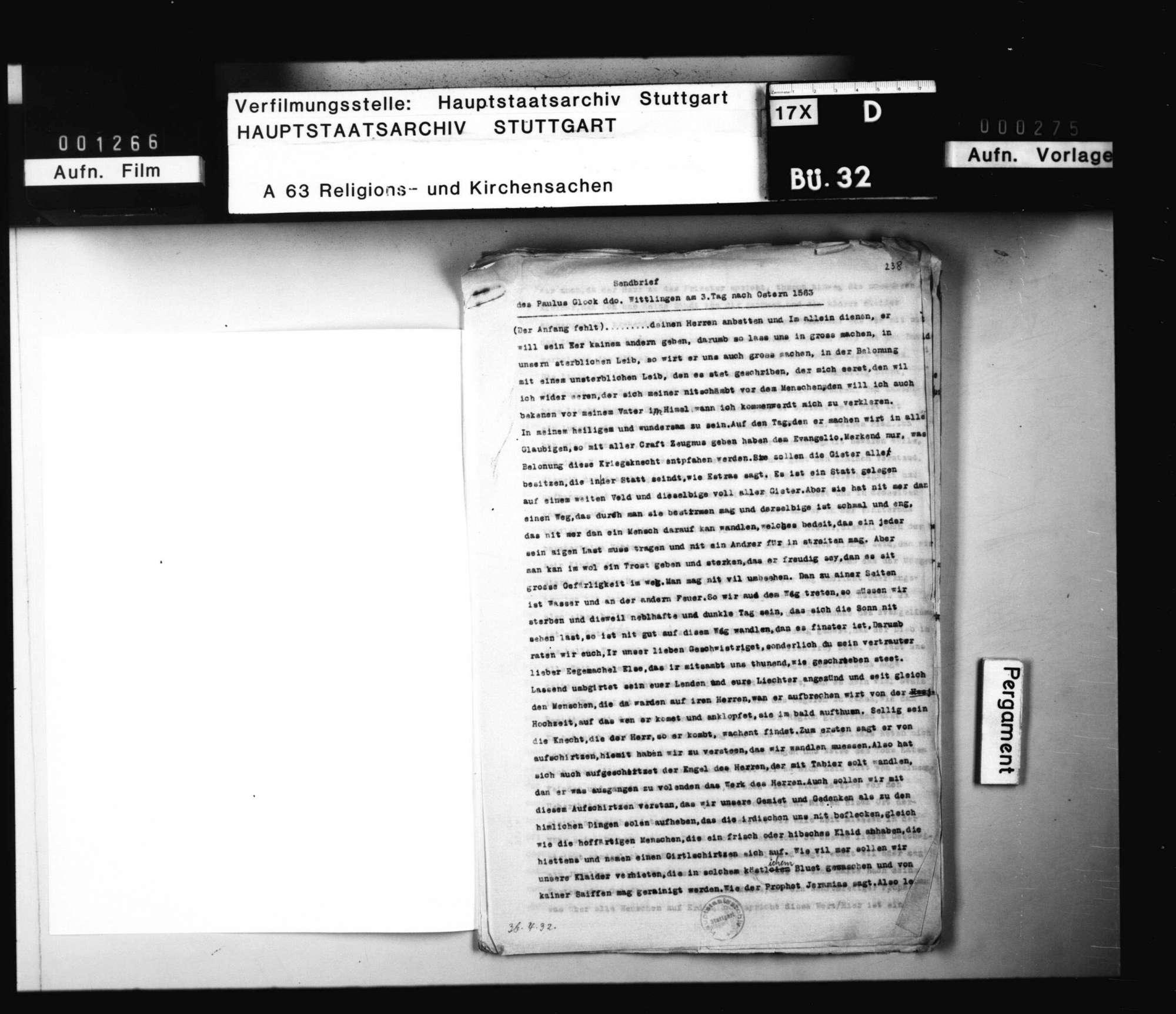 Sendschreiben des Paulus Glock., Bild 1