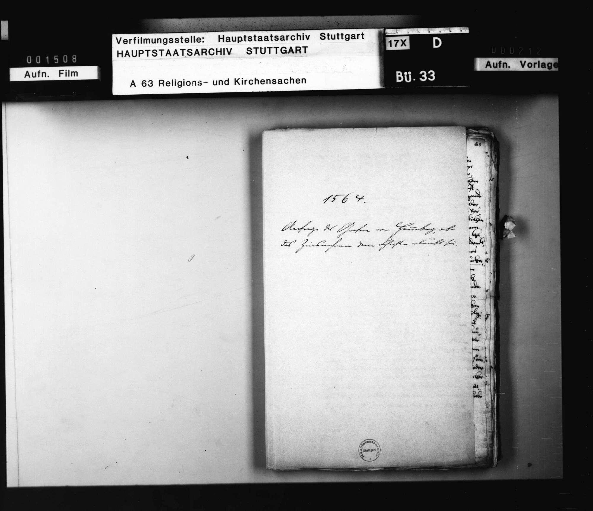Akten, betreffend die Anfrage des Grafen von Hennenberg, ob das Zinsnehmen den Christen erlaubt sei, mit Bedenken von Jakob Andreä, Brenz und Balthasar Bidembach., Bild 1
