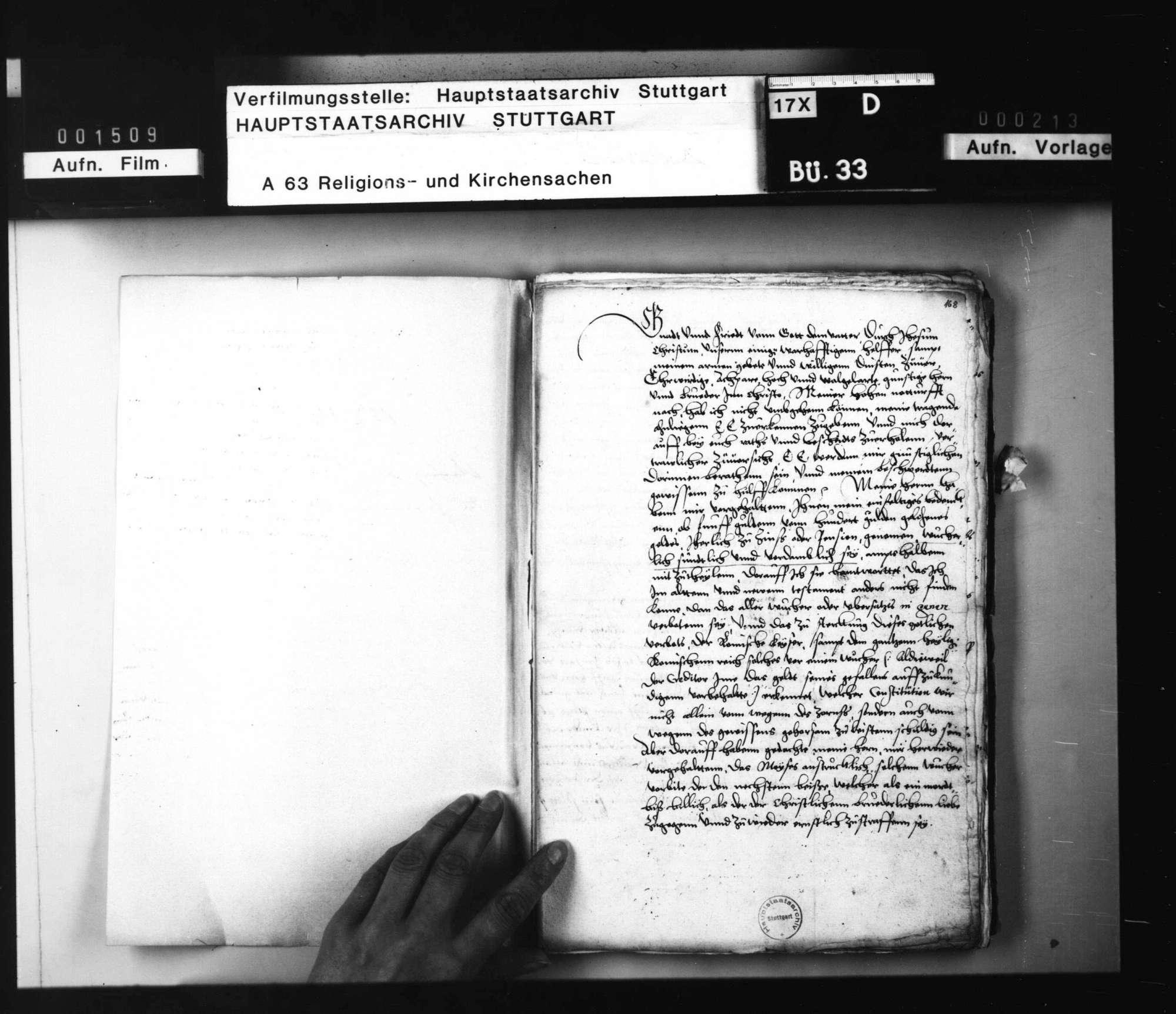 Akten, betreffend die Anfrage des Grafen von Hennenberg, ob das Zinsnehmen den Christen erlaubt sei, mit Bedenken von Jakob Andreä, Brenz und Balthasar Bidembach., Bild 2