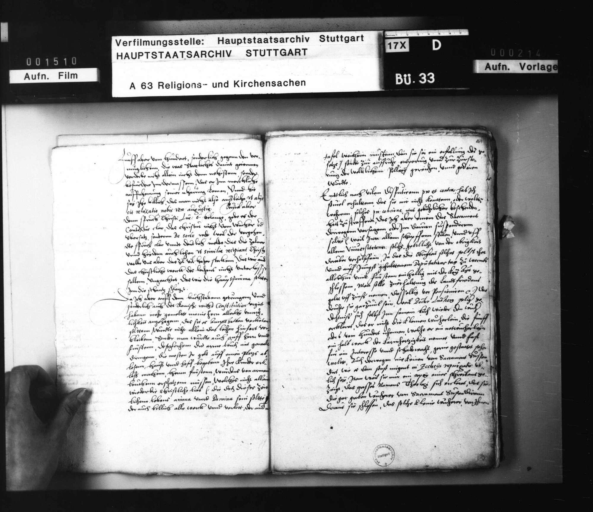 Akten, betreffend die Anfrage des Grafen von Hennenberg, ob das Zinsnehmen den Christen erlaubt sei, mit Bedenken von Jakob Andreä, Brenz und Balthasar Bidembach., Bild 3