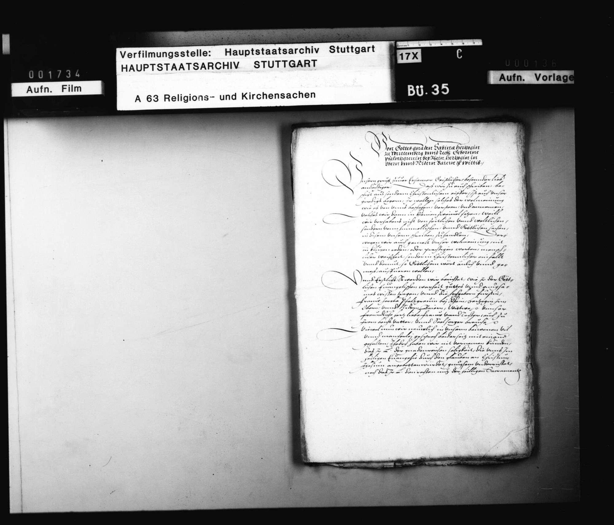 """Akten, betreffend das erneute Verfahren gegen den des """"Zwinglianimus"""" verdächtigen Pfarrer Hagen., Bild 2"""