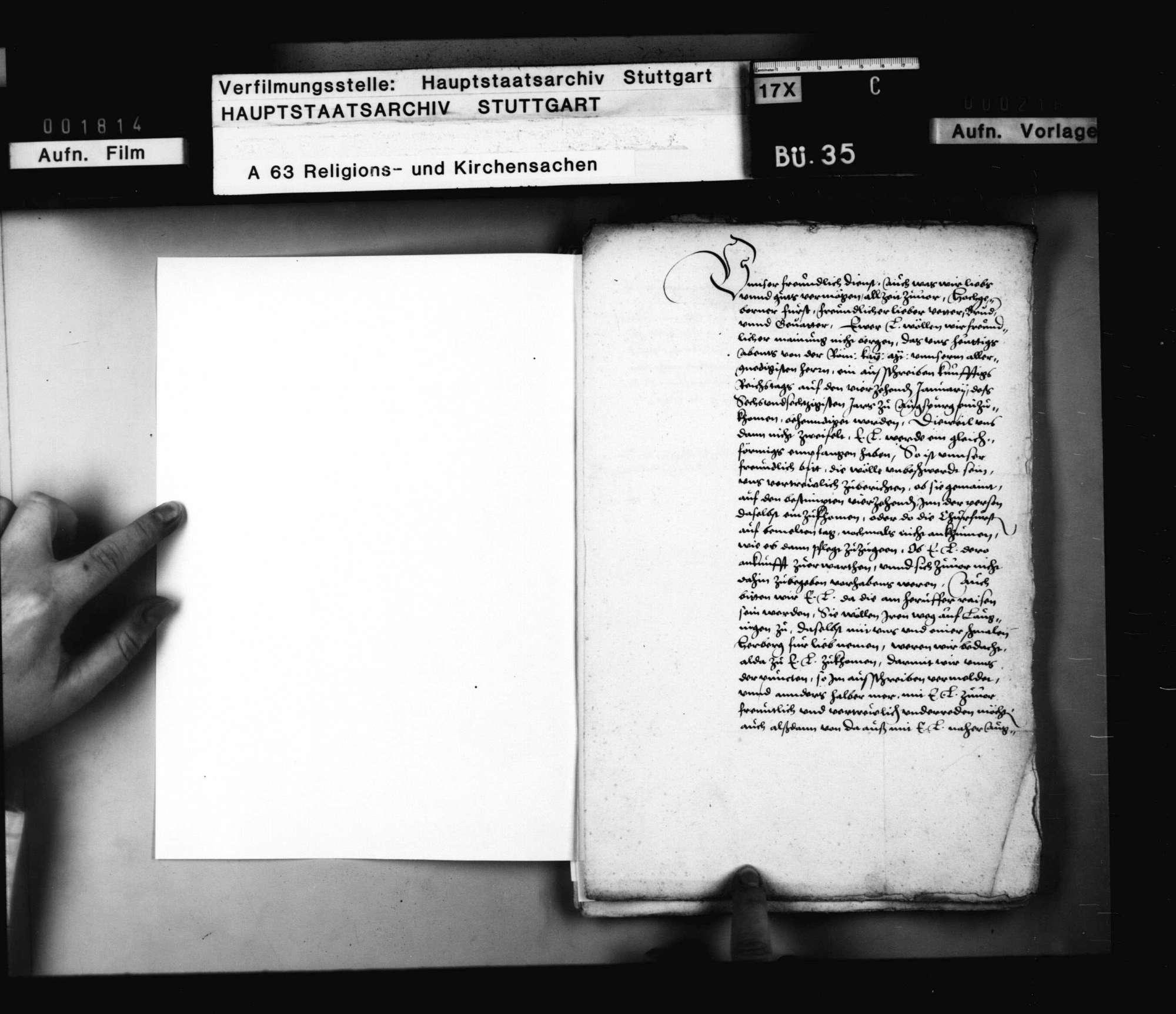 Schriften betreffend der protestierenden Stände Stellungnahme gegen Kurfürst Friedrich von der Pfalz auf dem Augsburger Reichstag von 1566., Bild 2