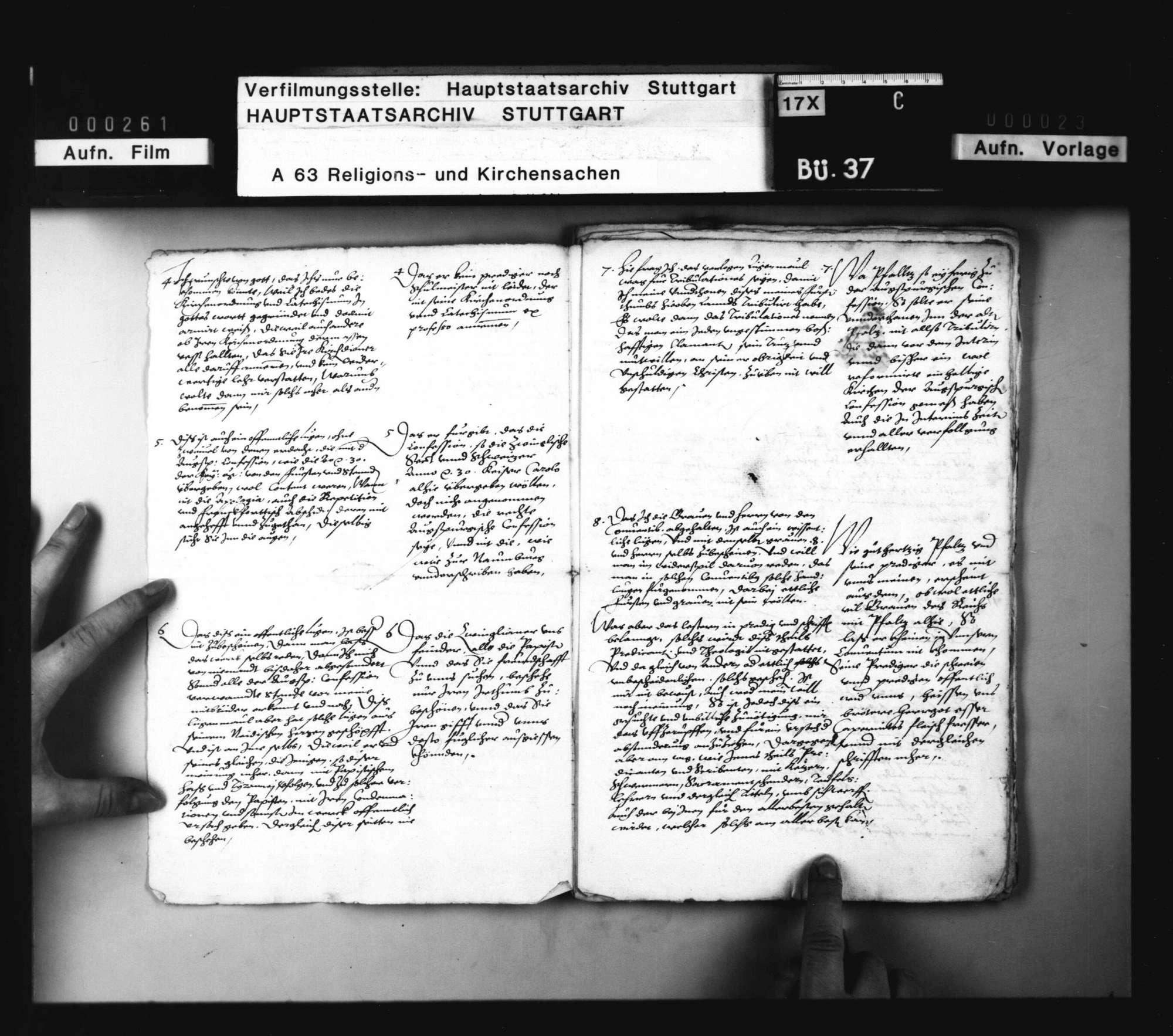 Schreiben von und an Pfalzgraf Johann Kasimir, Herzog Christoph und Pfalzgraf Wolfgang, warum sich mit dem Kurfürsten zu Pfalz in Religionssachen nicht einzulassen., Bild 3