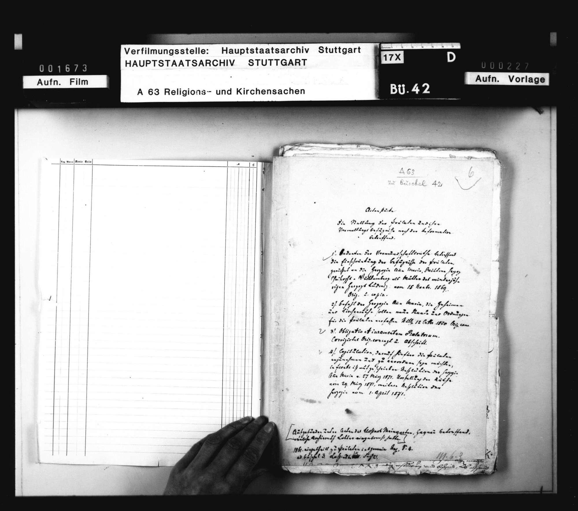 Akten betreffend die Besetzung der Prälaturen nach dem Tod Herzog Christophs., Bild 2