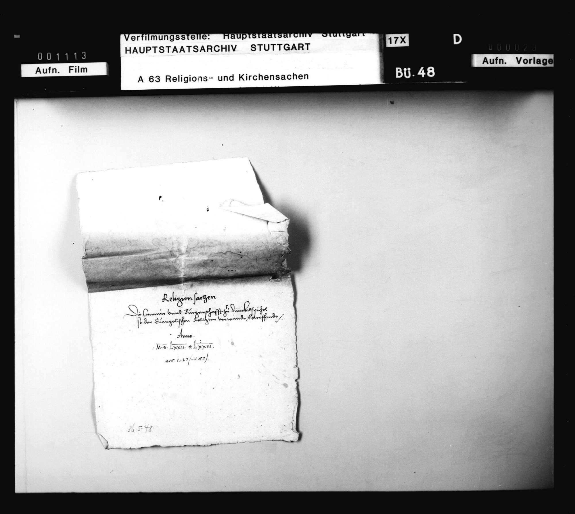 Schriften, betreffend die Verwendung Herzog Ludwigs für die Evangelischen in der Stadt Dinkelsbühl., Bild 2