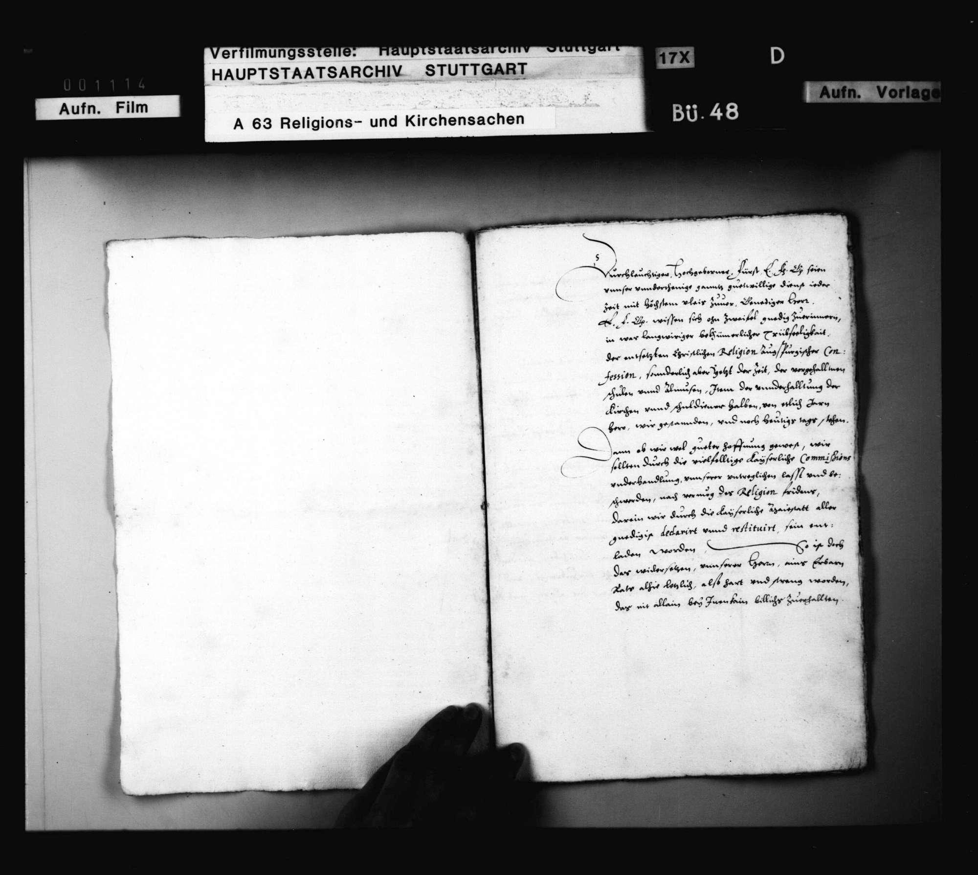 Schriften, betreffend die Verwendung Herzog Ludwigs für die Evangelischen in der Stadt Dinkelsbühl., Bild 3