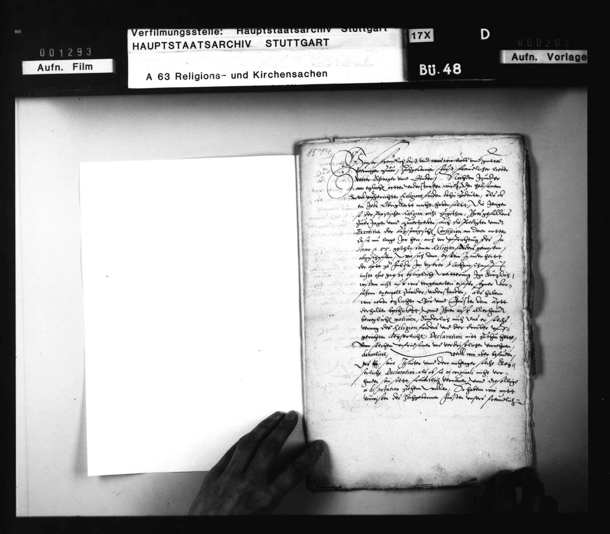 Schreiben Landgraf Wilhelms an Herzog Ludwig, betreffend die Auslegung des Augsburger Religionsfriedens, nebst Antwort., Bild 2