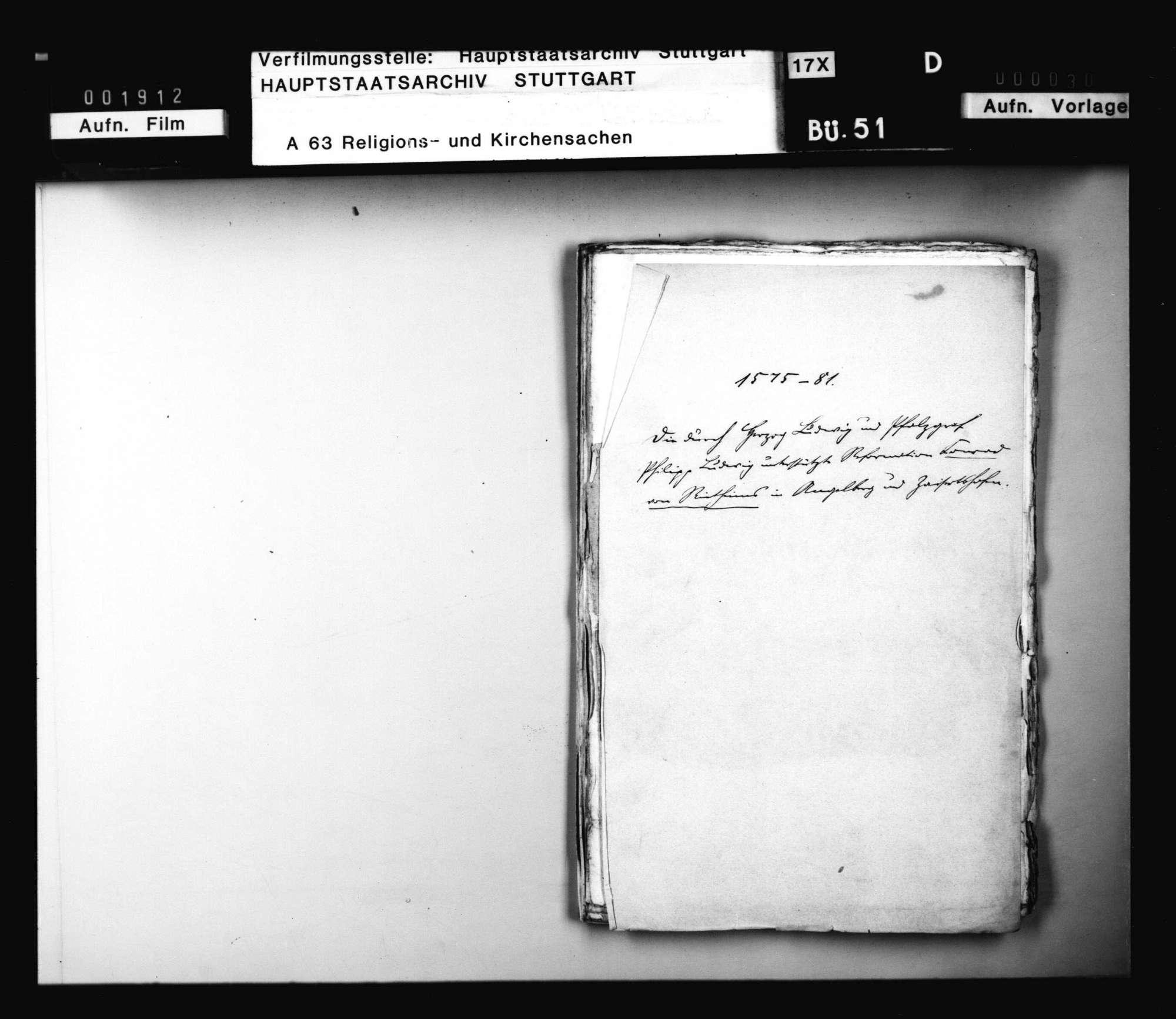 Schriften, betreffend die Unterstützung der Reformation des Conrad von Rietheim in Angelberg und Zaisertshofen durch Herzog Ludwig und Pfalzgraf Philipp Ludwig, Bild 1