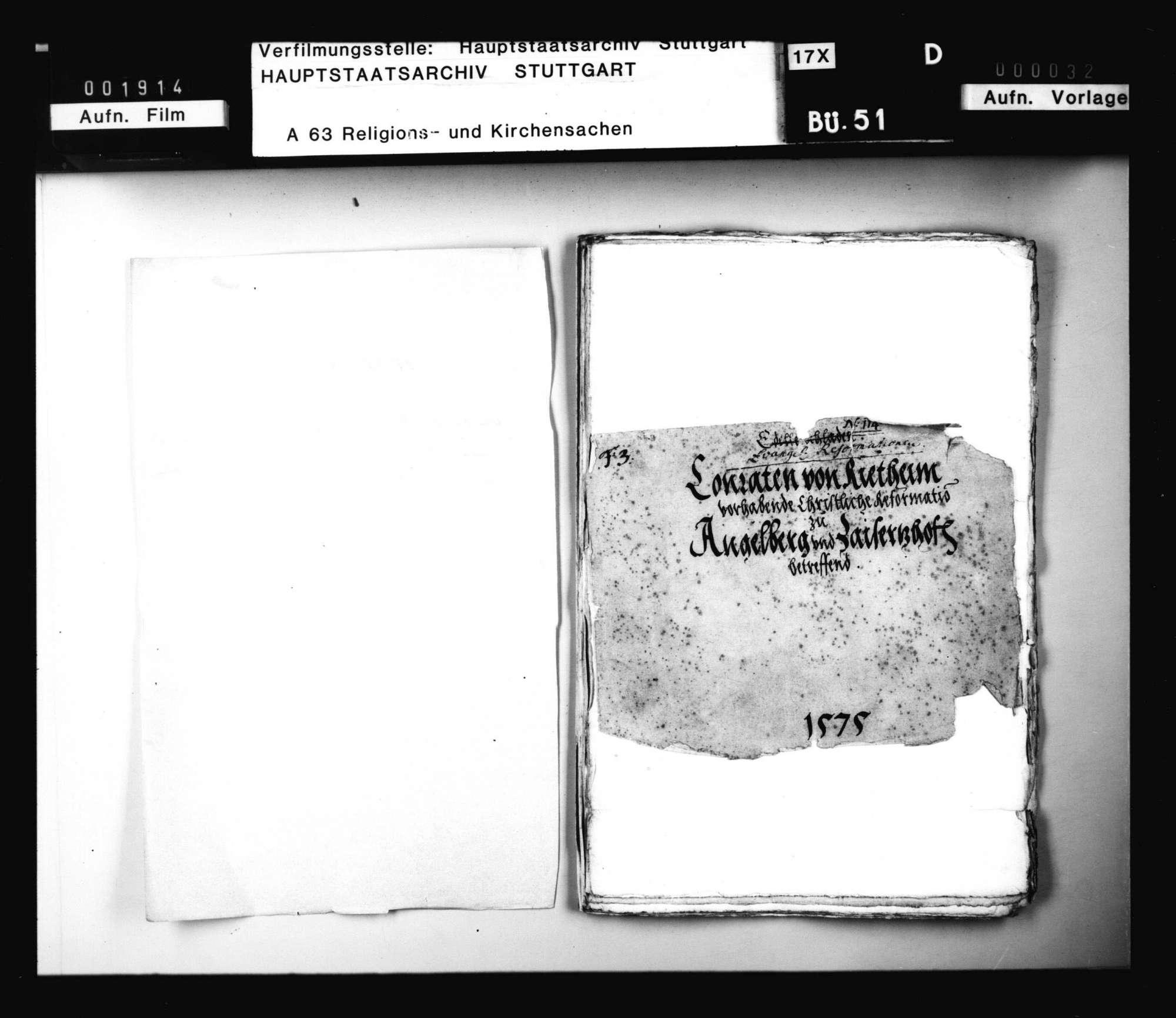 Schriften, betreffend die Unterstützung der Reformation des Conrad von Rietheim in Angelberg und Zaisertshofen durch Herzog Ludwig und Pfalzgraf Philipp Ludwig, Bild 3