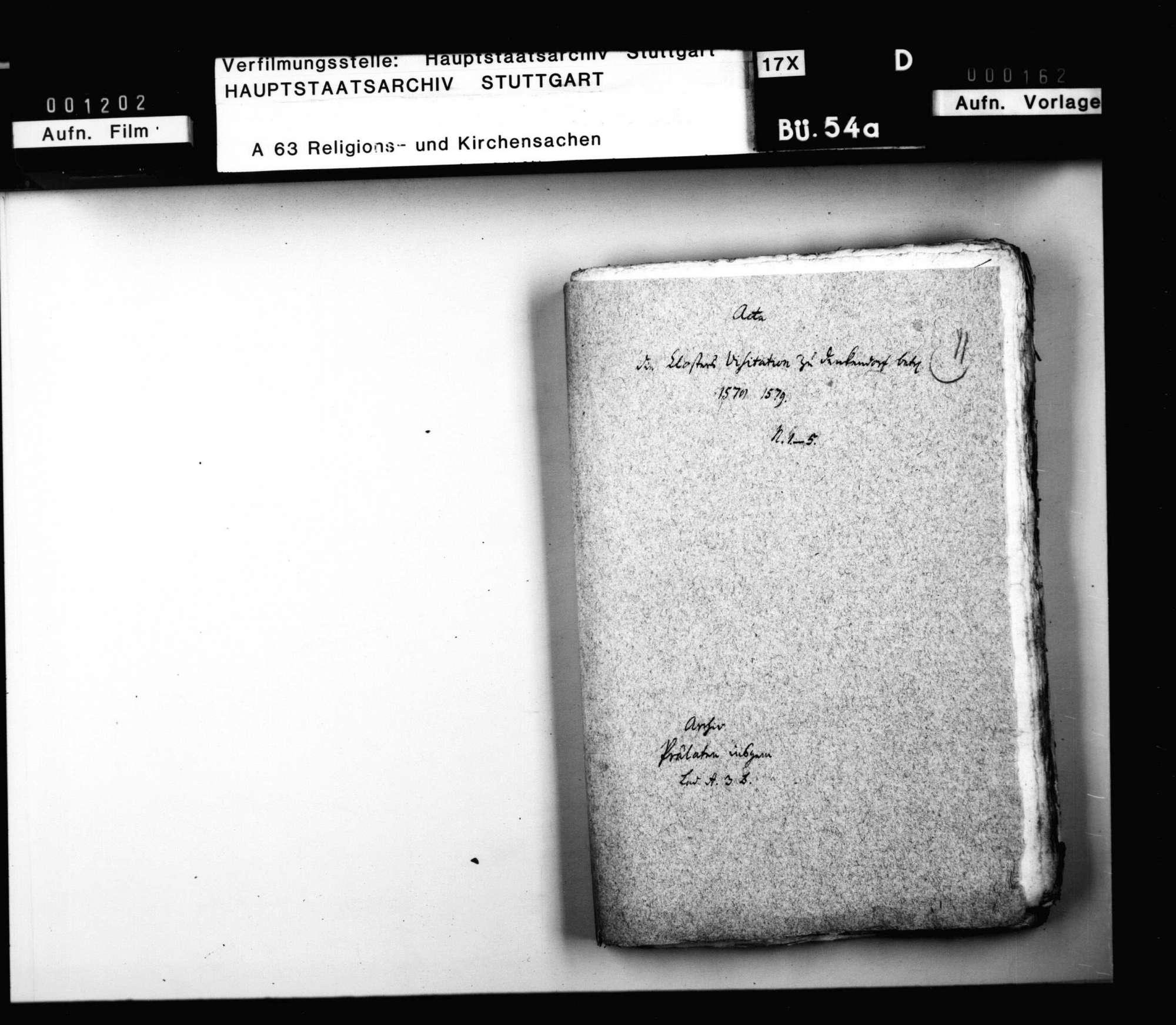Akten zur Visitation des Klosters Denkendorf., Bild 2