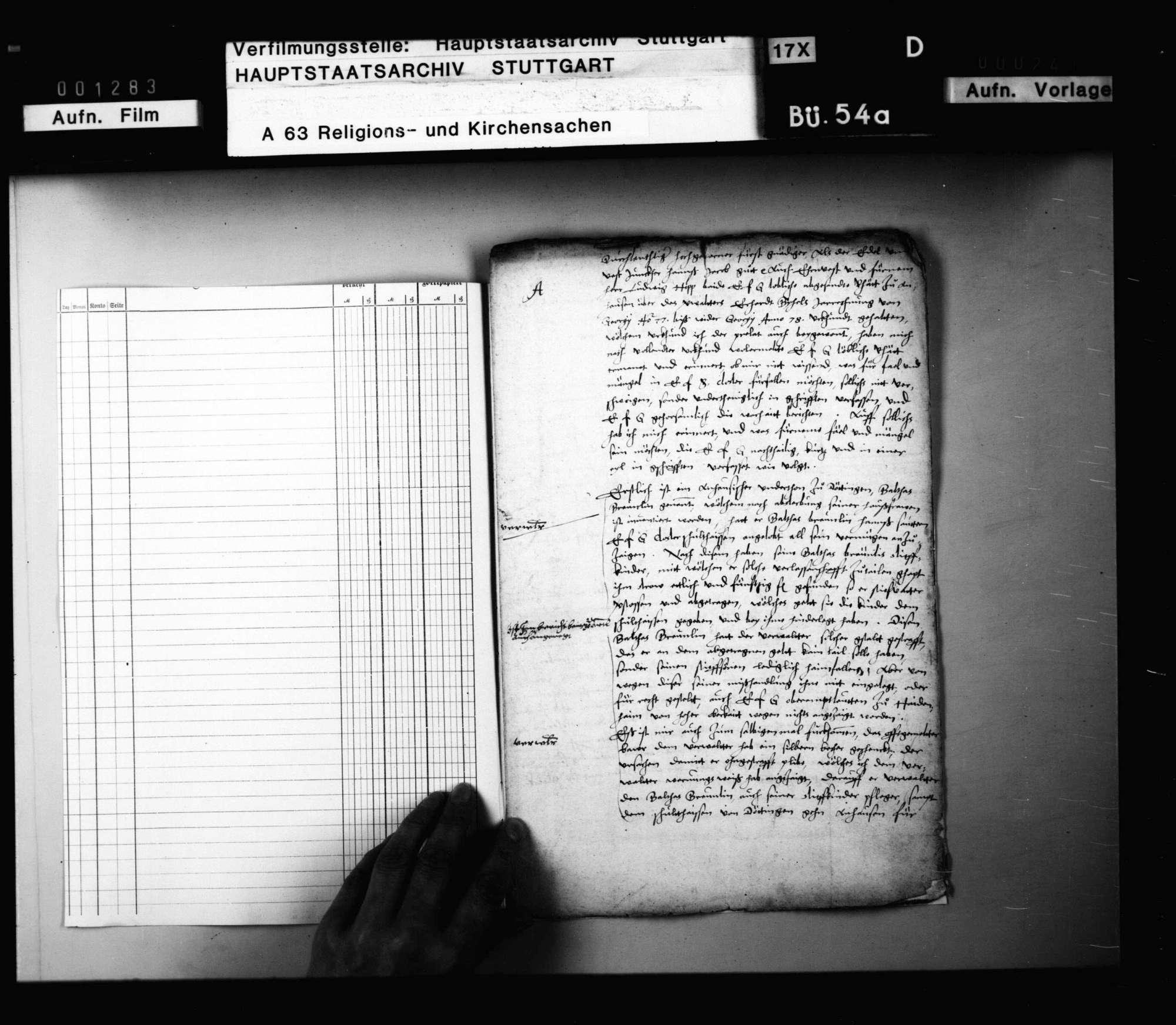 Schreiben des Abts Andreas Eyb zu Anhausen an Herzog Ludwig mit einem Bericht über die in seinem Kloster abgehaltenen Visitationen. Original, Bild 2