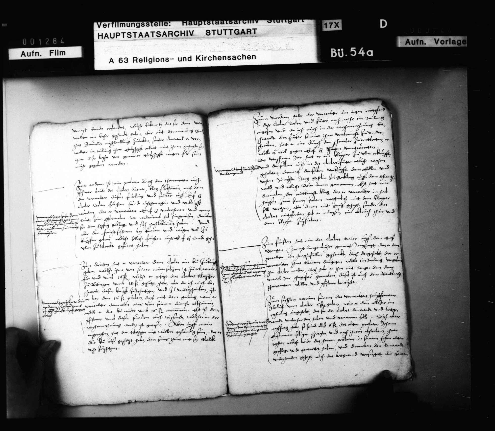 Schreiben des Abts Andreas Eyb zu Anhausen an Herzog Ludwig mit einem Bericht über die in seinem Kloster abgehaltenen Visitationen. Original, Bild 3