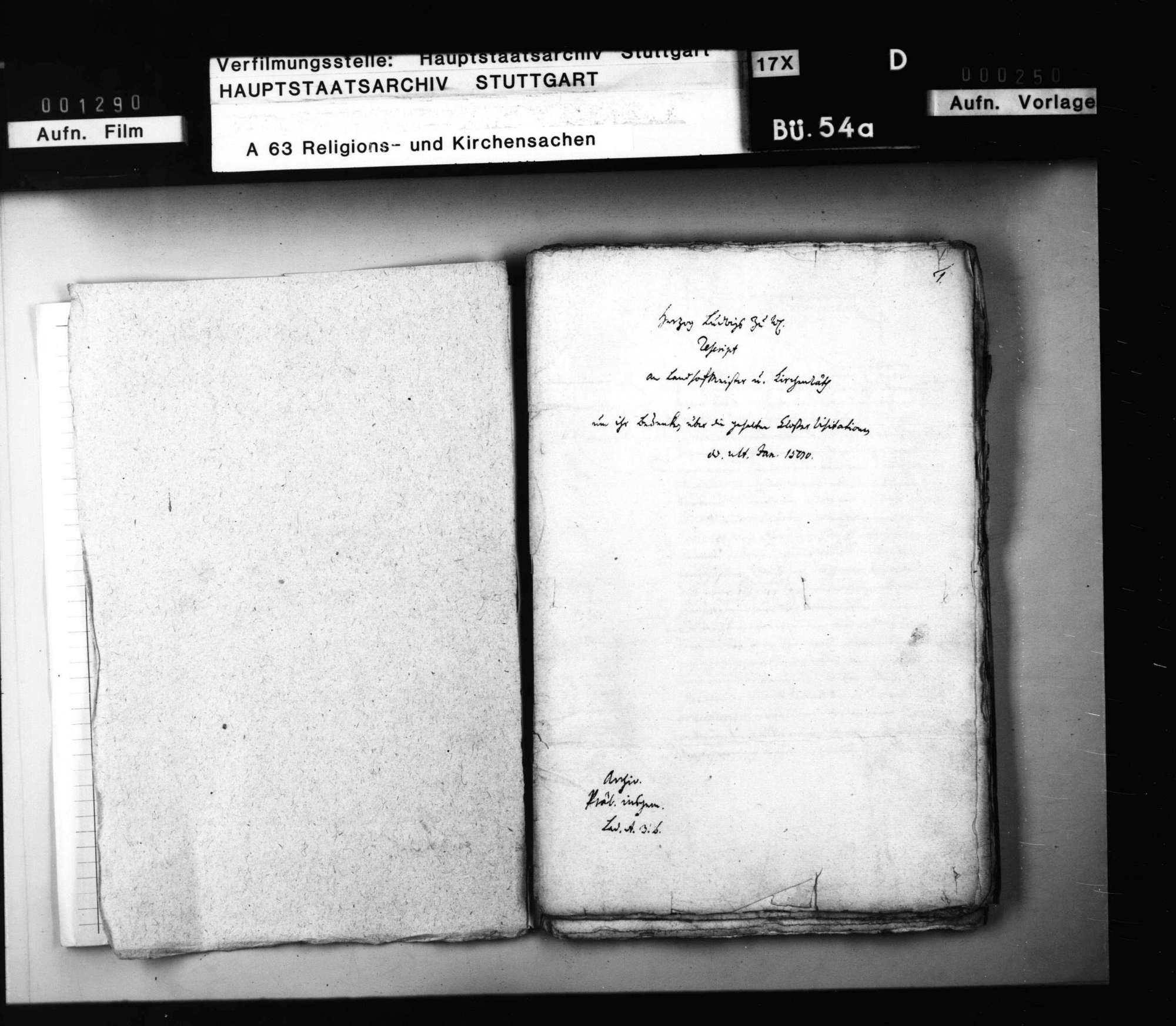 Herzog Ludwigs Reskripte und der Räte Bedenken über die in Mannsklöstern gehaltenen Visitationen., Bild 3