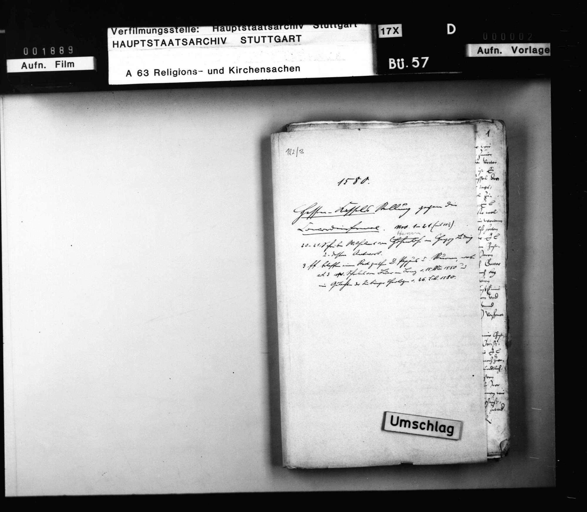 Schriften, betreffend Hessen-Kassels Stellung gegen die Concordienformel., Bild 1