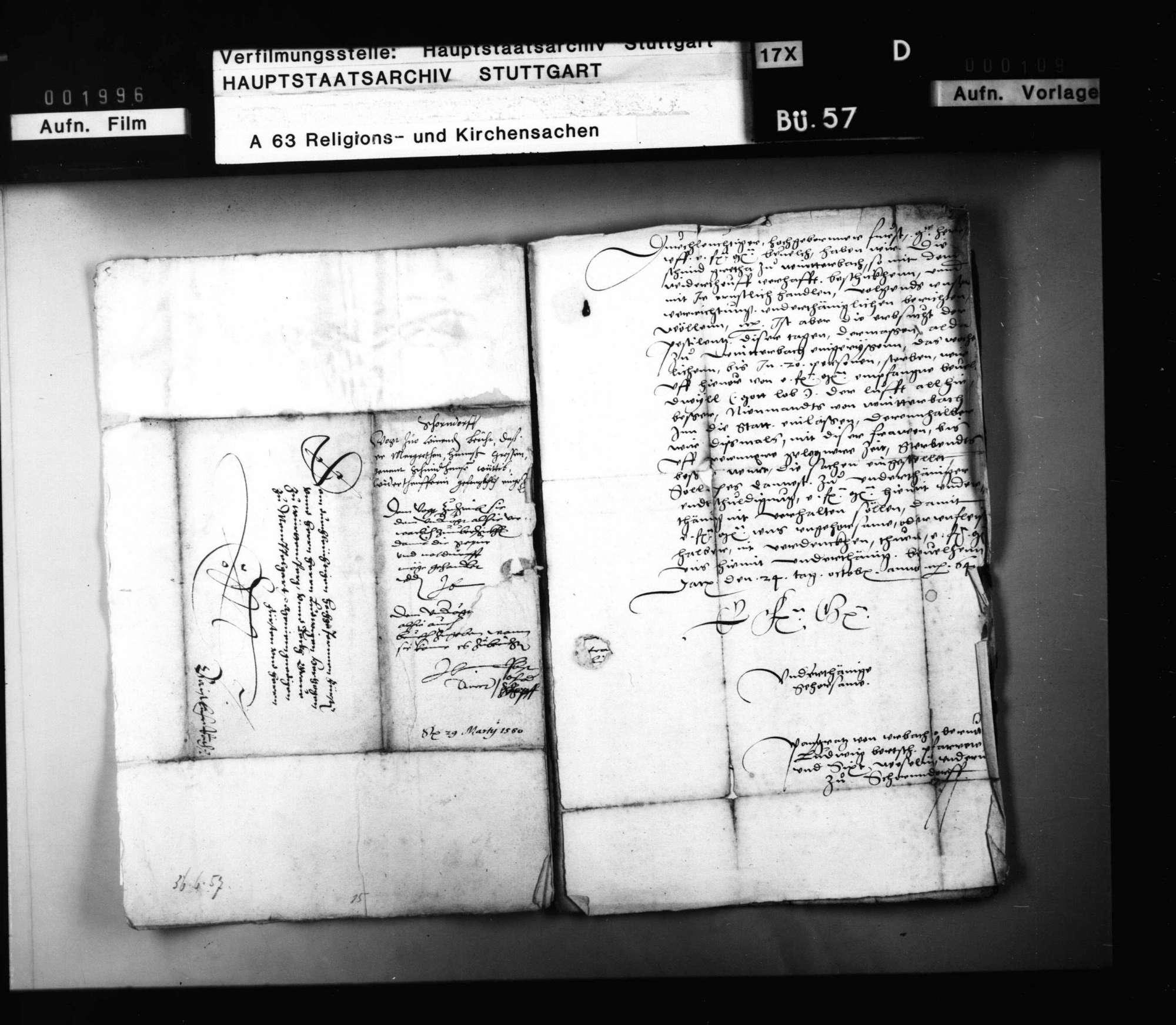 Schriften, die Prozessierung einer Winterbacher Wiedertäuferin betreffend., Bild 2