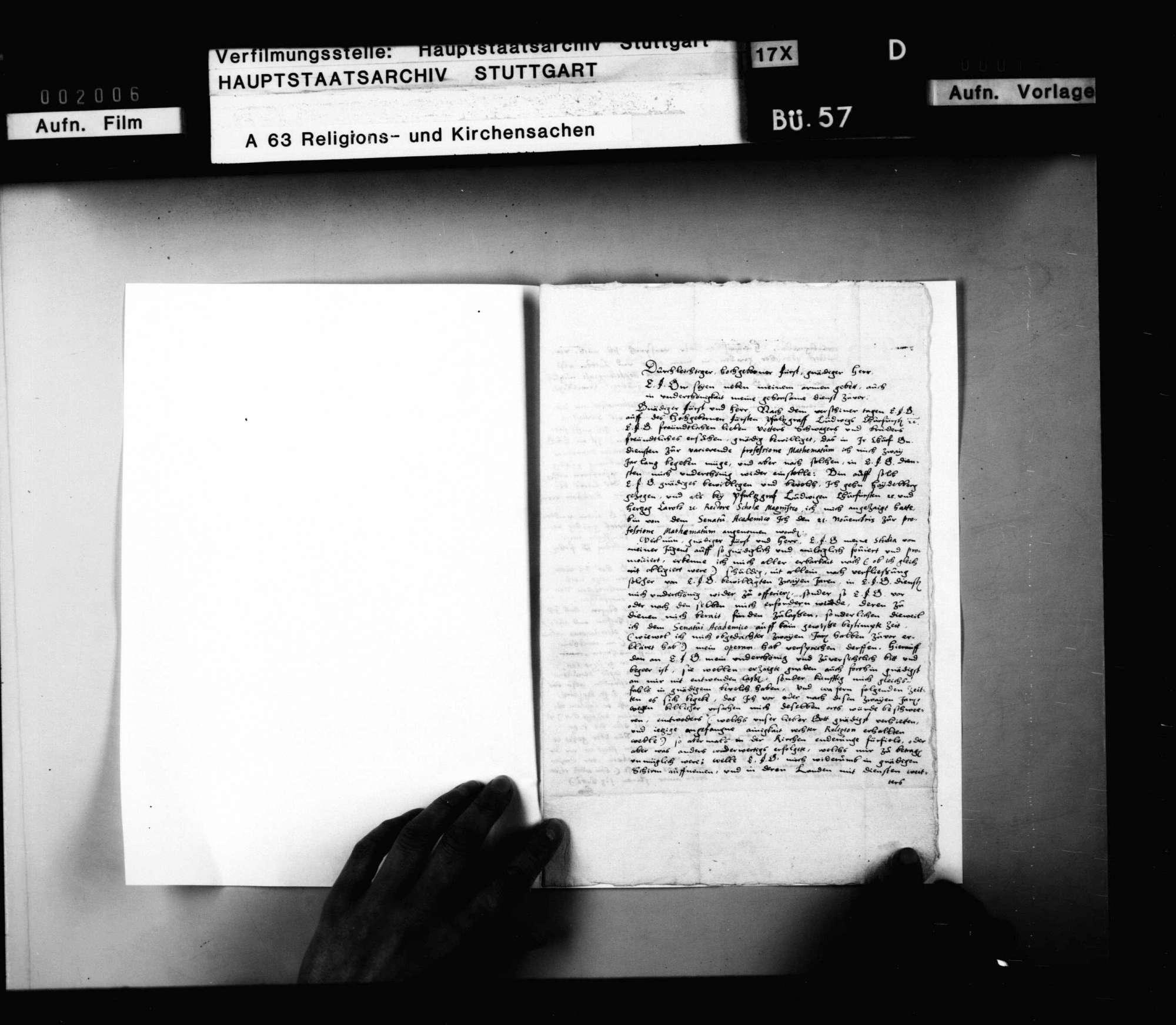 M. Michael Mästlein, Diakonus zu Backnang teilt seine Berufung an die Universität Heidelberg als Mathematikus Herzog Ludwig mit und berichtet wegen eines Kometen., Bild 2
