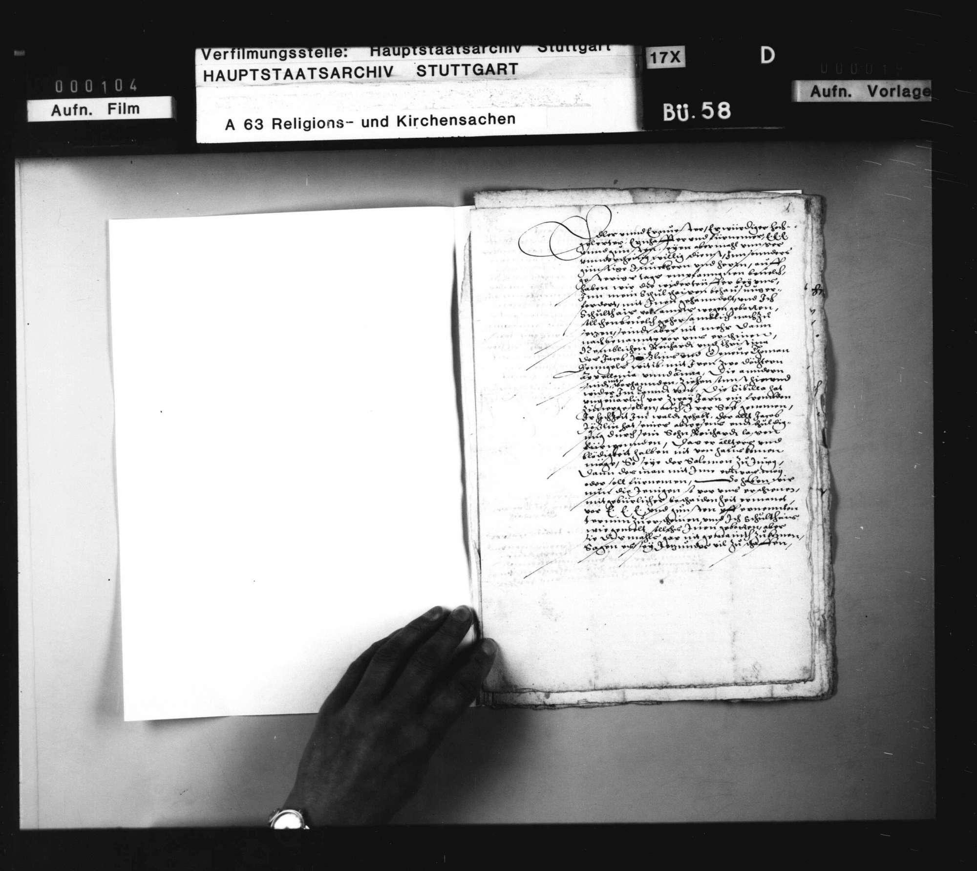 Schriften, betreffend das Verfahren gegen Wiedertäufer zu Großgartach., Bild 1