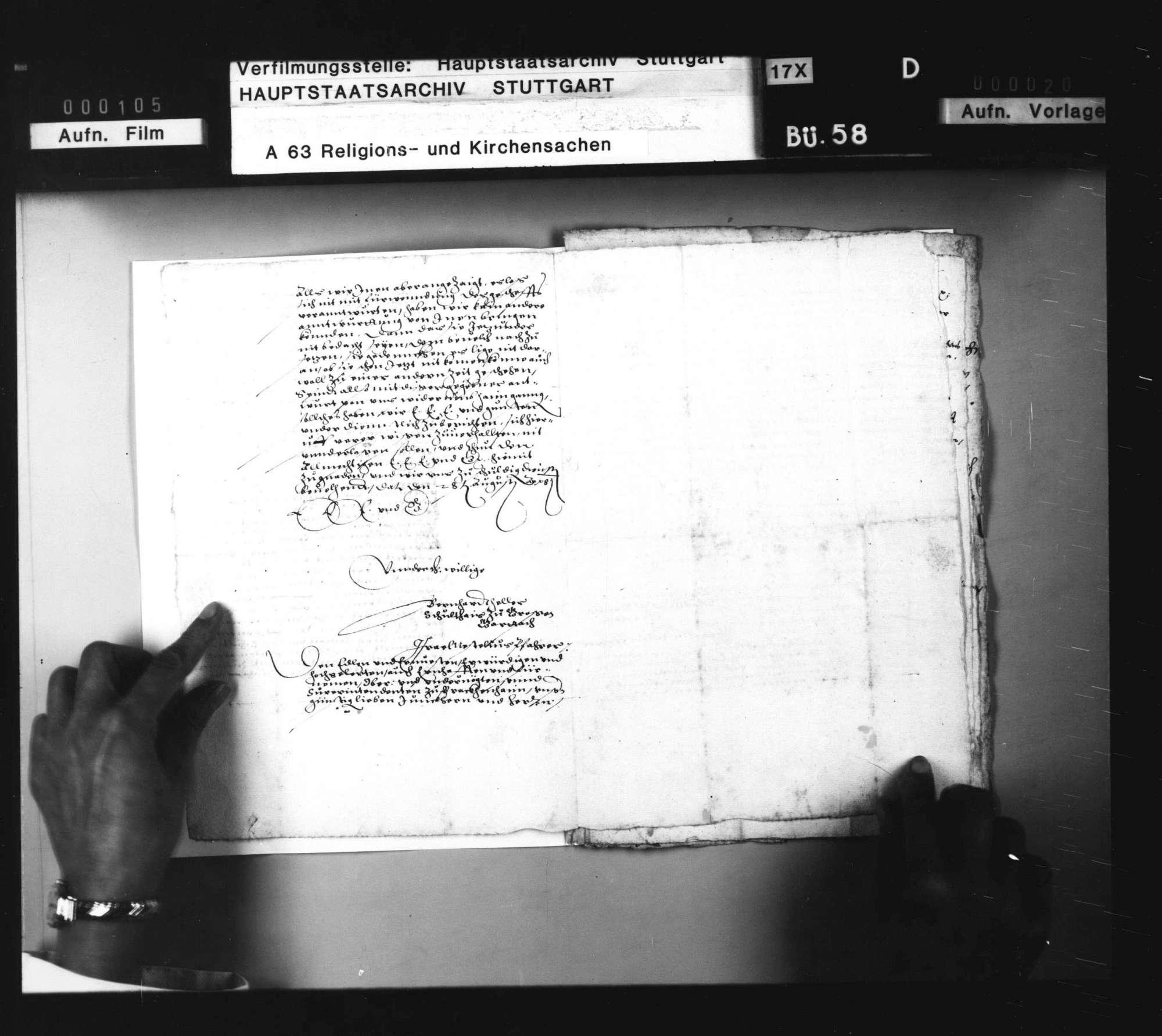 Schriften, betreffend das Verfahren gegen Wiedertäufer zu Großgartach., Bild 2