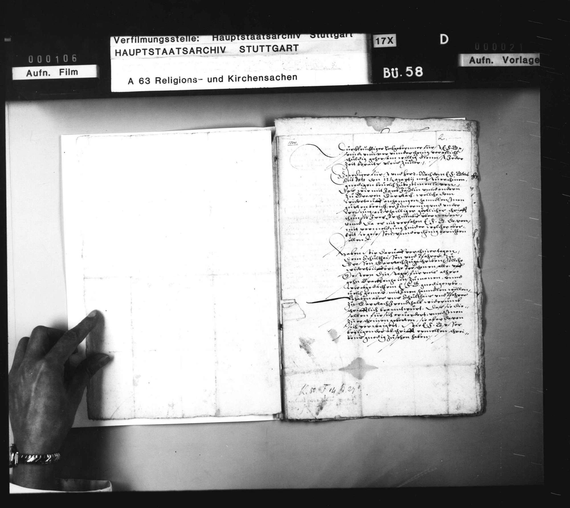 Schriften, betreffend das Verfahren gegen Wiedertäufer zu Großgartach., Bild 3