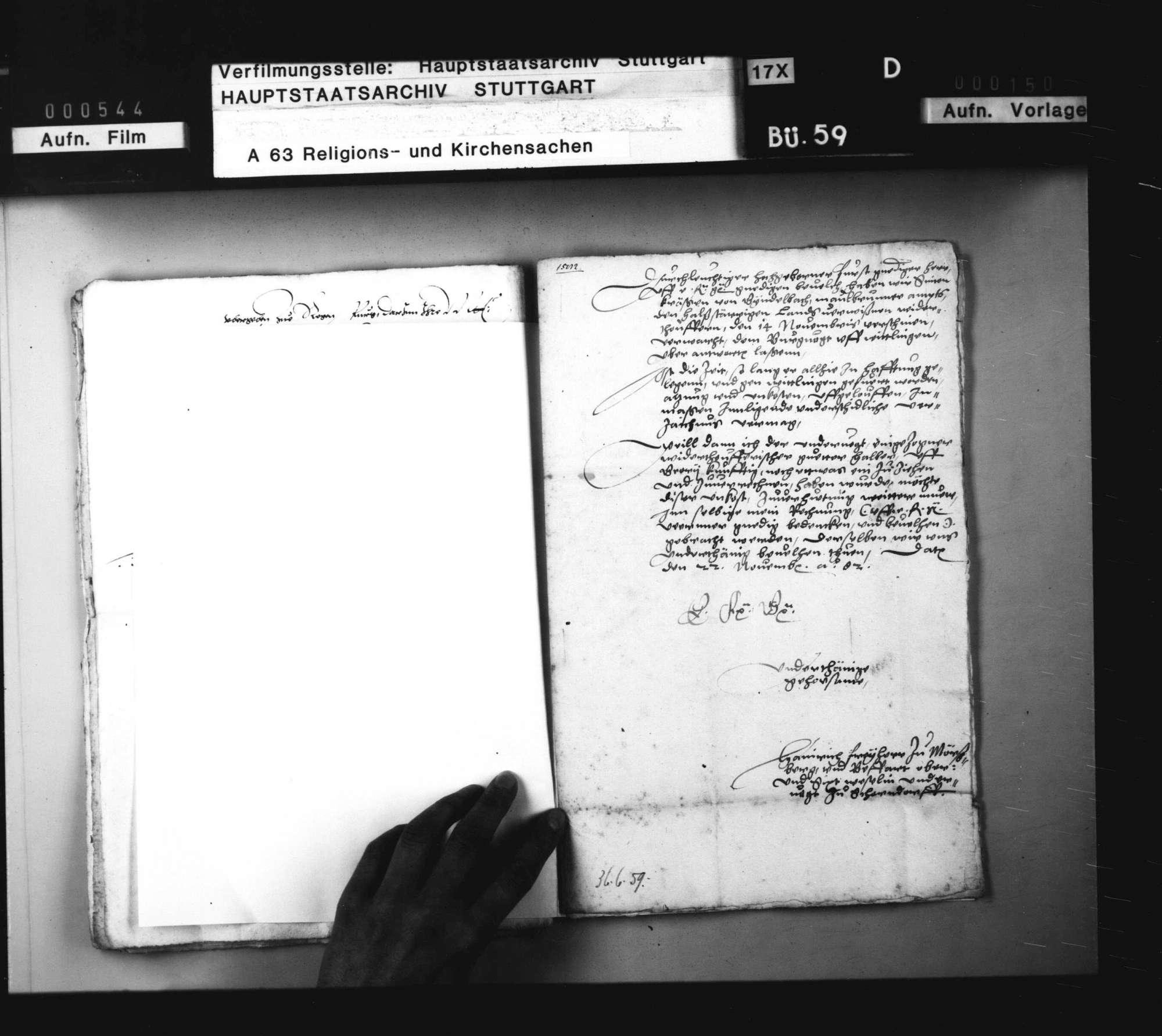 2 Schriftstücke, betreffend die Zuordnung der Kosten für den Transport eines Wiedertäufers nach Wittlingen., Bild 1