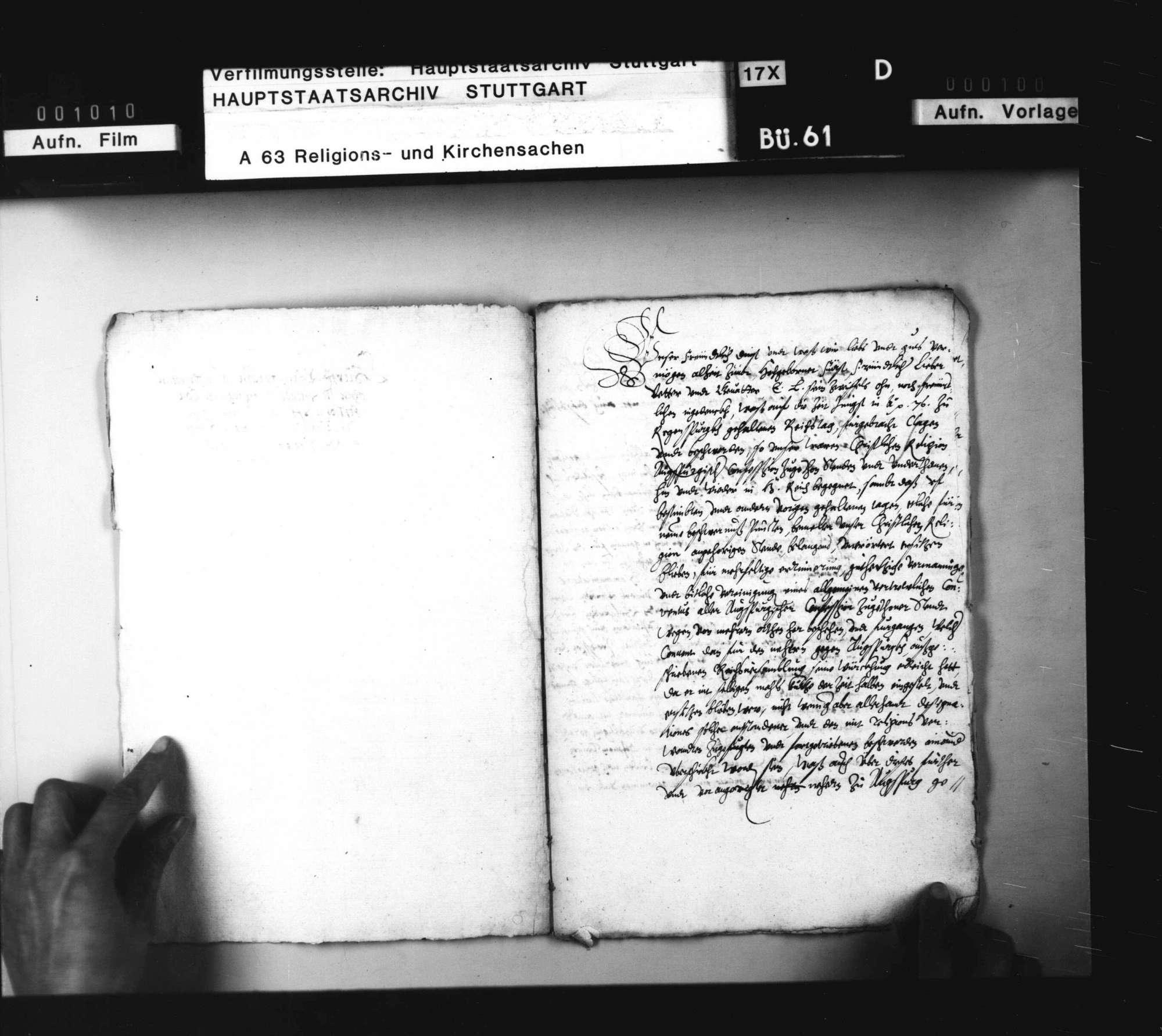 Pfalzgraf Ludwigs Einladung an die Stände Augsburger Konfession zu einem Konvent nach Mühlhausen. Abschrift, Bild 2