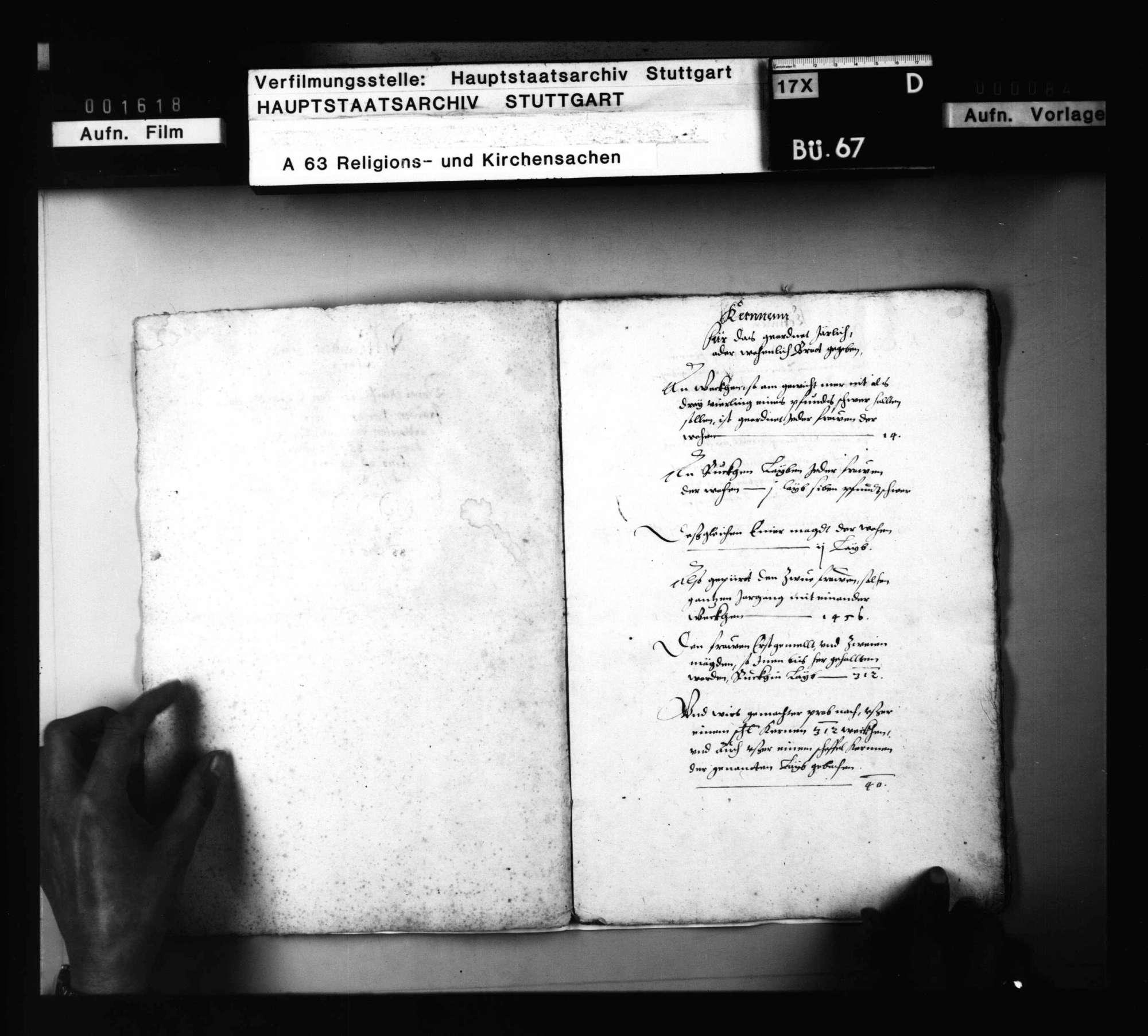Partikularrechnung (Folio - Heft) über das Unterhaltsdeputat der noch lebenden 2 Klosterfrauen in einem ungenannten Kloster (wahrscheinlich Pfullingen)., Bild 2