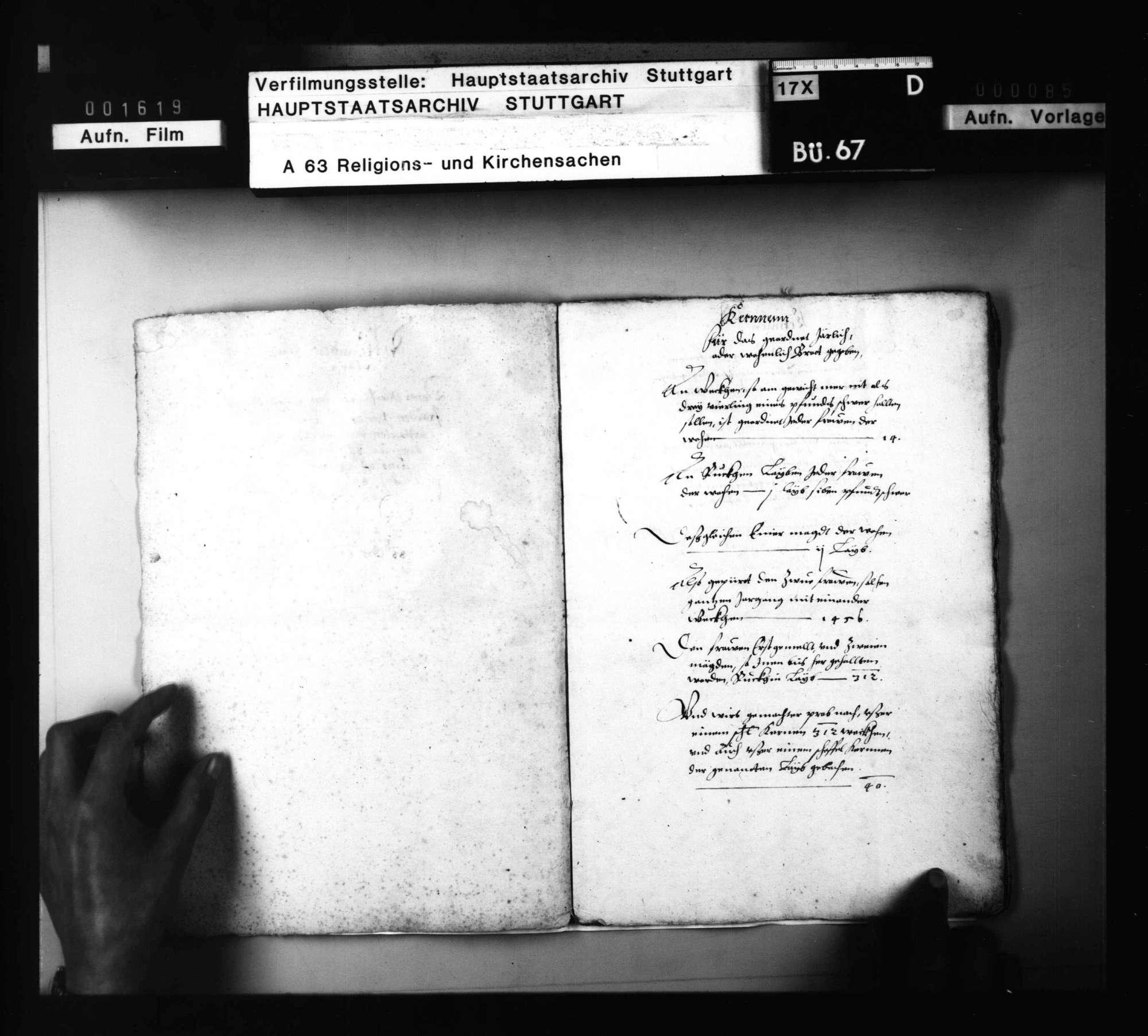 Partikularrechnung (Folio - Heft) über das Unterhaltsdeputat der noch lebenden 2 Klosterfrauen in einem ungenannten Kloster (wahrscheinlich Pfullingen)., Bild 3
