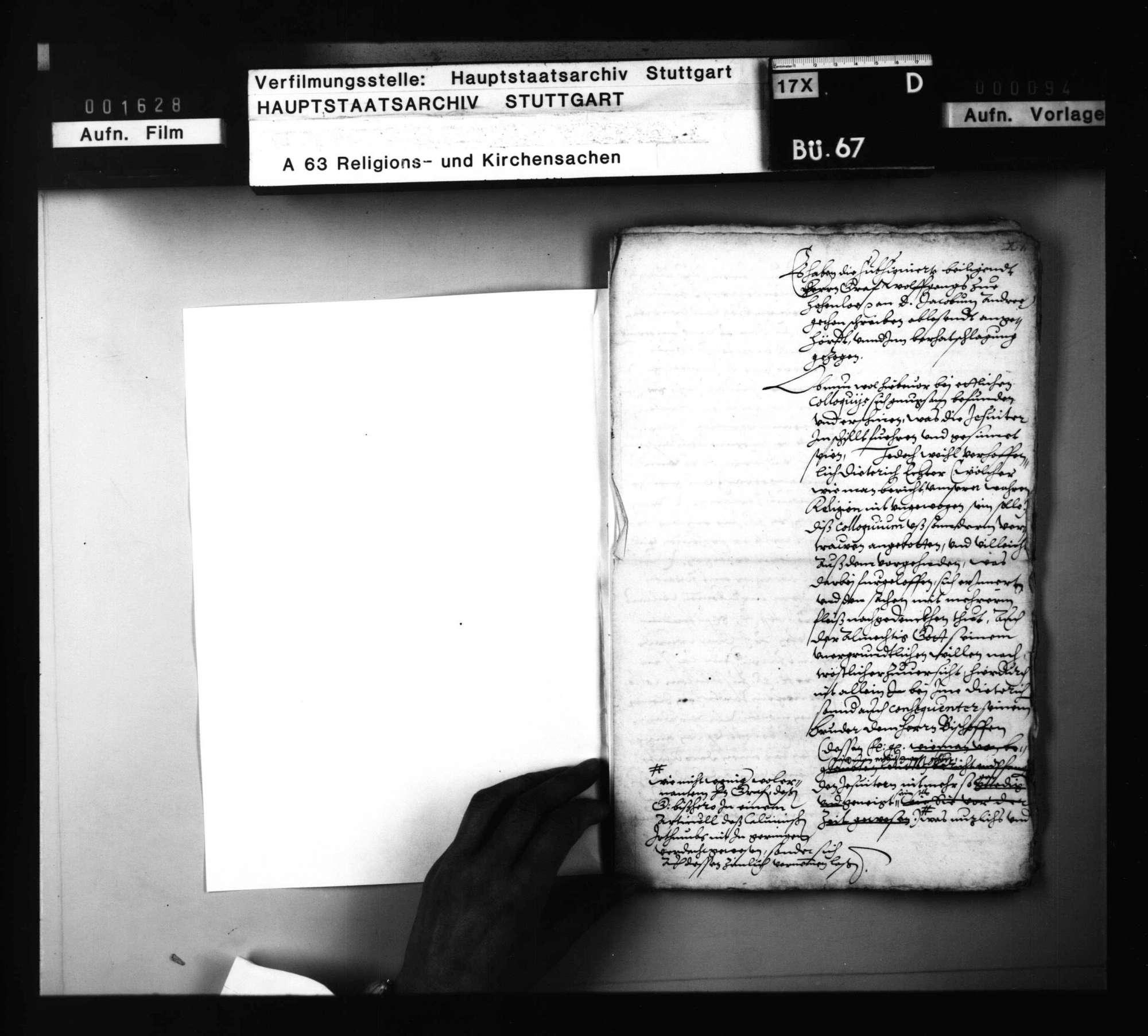 Schriften, betreffend das Colloquium, welches J. Andreä mit zwei Jesuiten vor Graf Wolf von Hohenlohe halten sollte, Bild 3