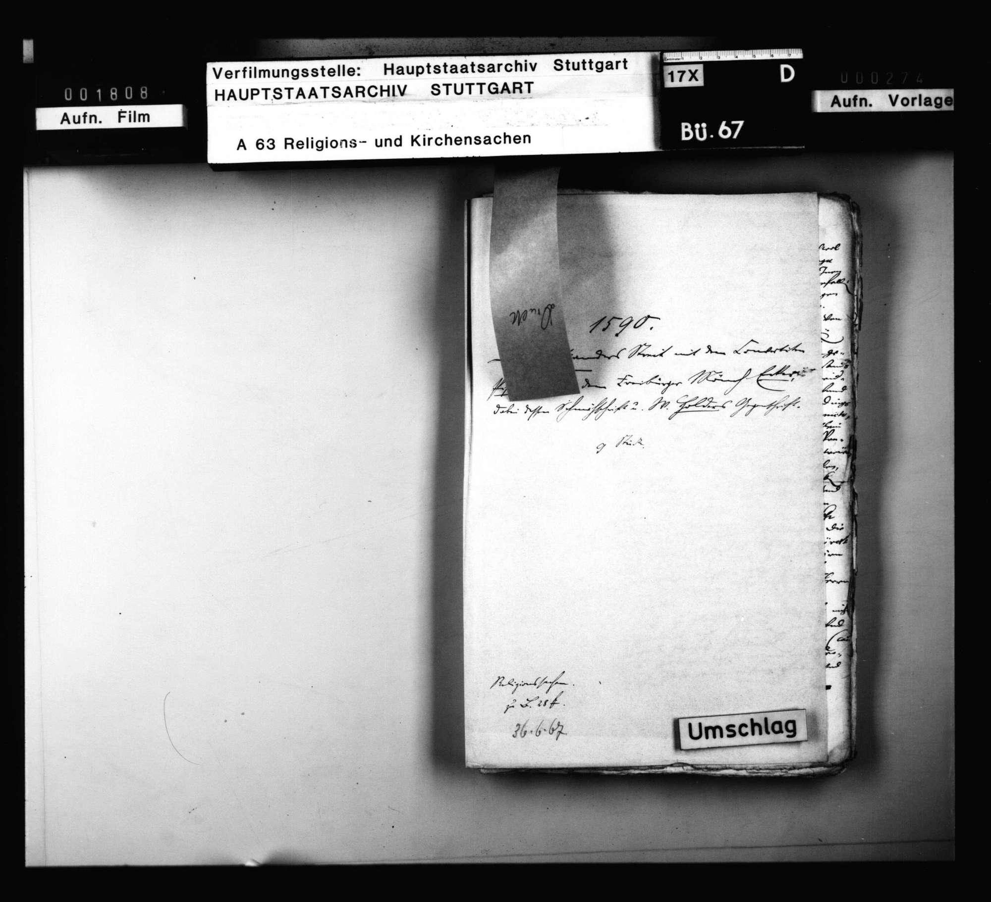 L. Osianders Streit mit dem Konvertiten Pistorius und dem Freiburger Mönch Ecker., Bild 1