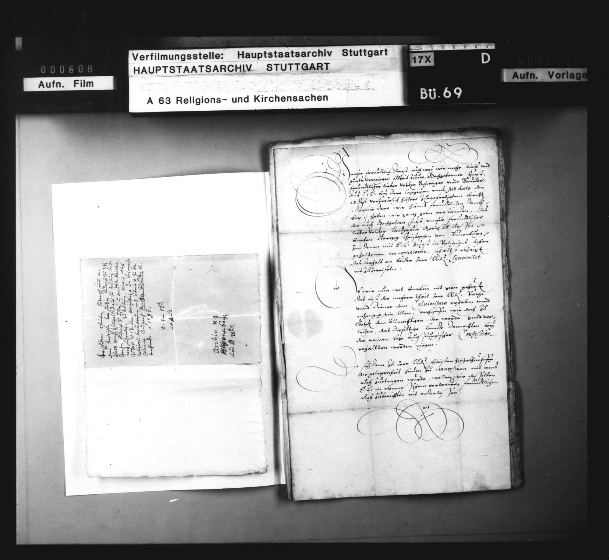 Drohender Übertritt des Landgrafen Moriz von Hessen zum Calvinismus., Bild 1