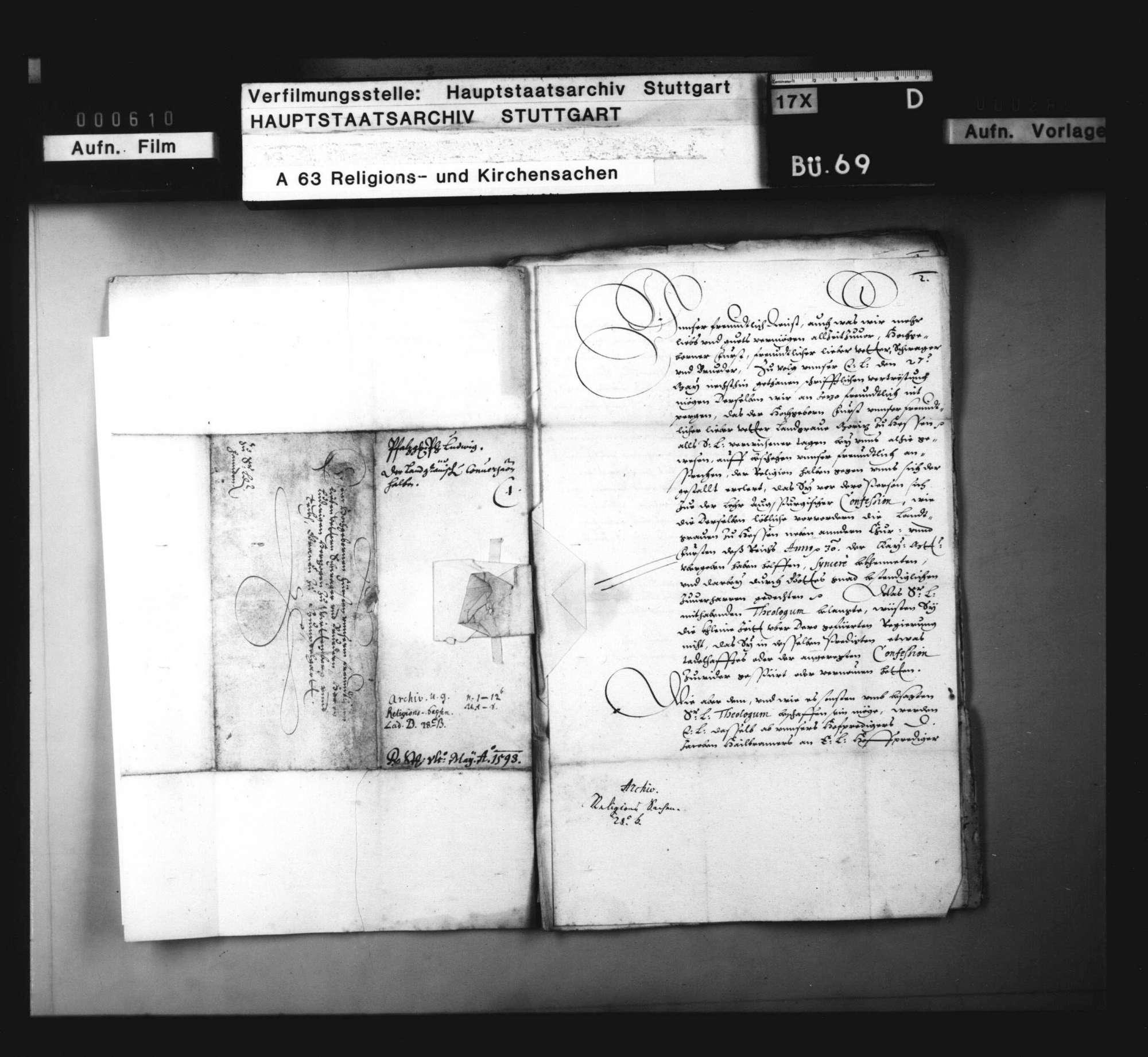 Drohender Übertritt des Landgrafen Moriz von Hessen zum Calvinismus., Bild 3