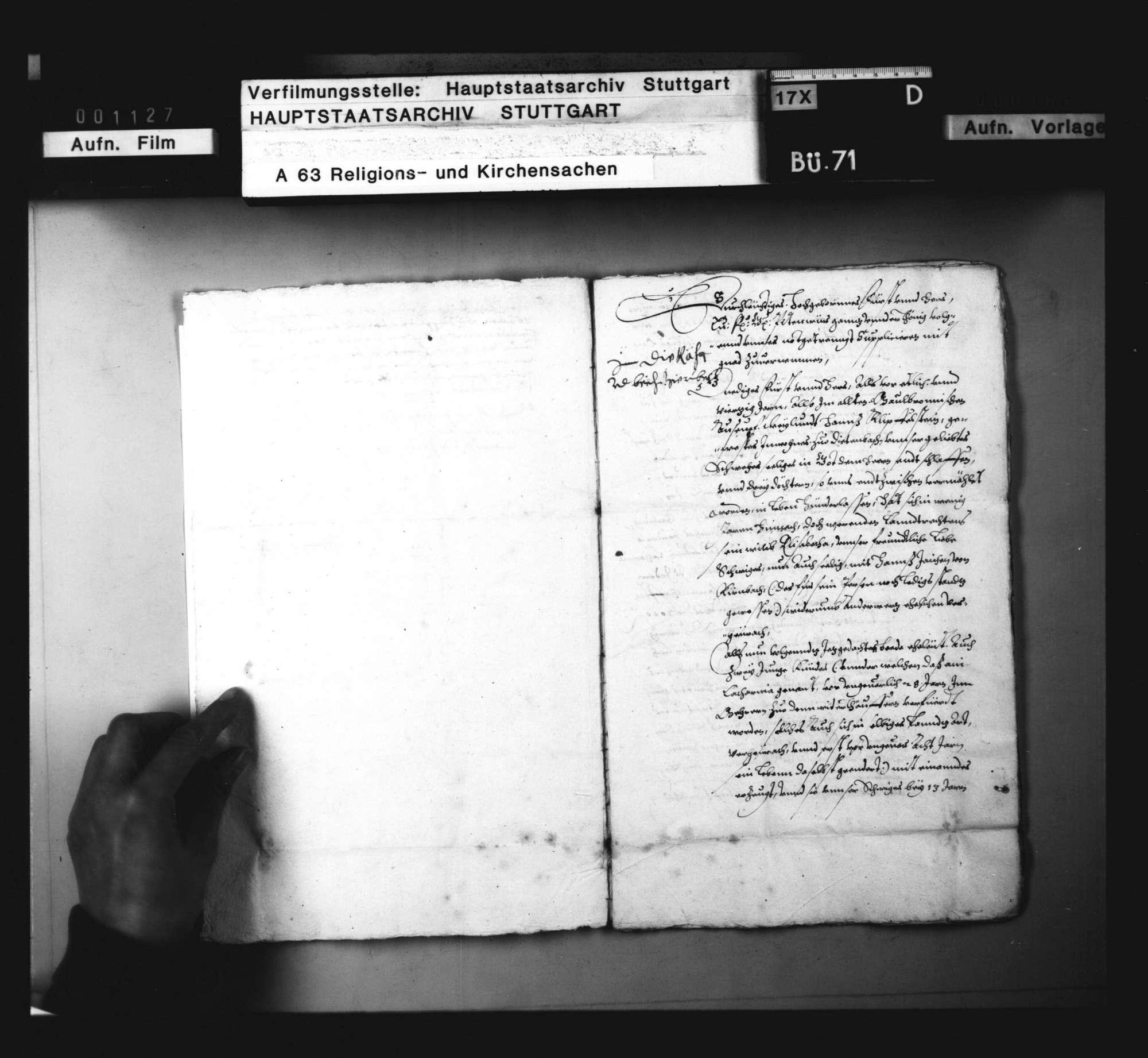 Schriften, betreffend verschiedene Wiedertäufer und Sakramentierer aus dem Maulbronner Amt., Bild 3