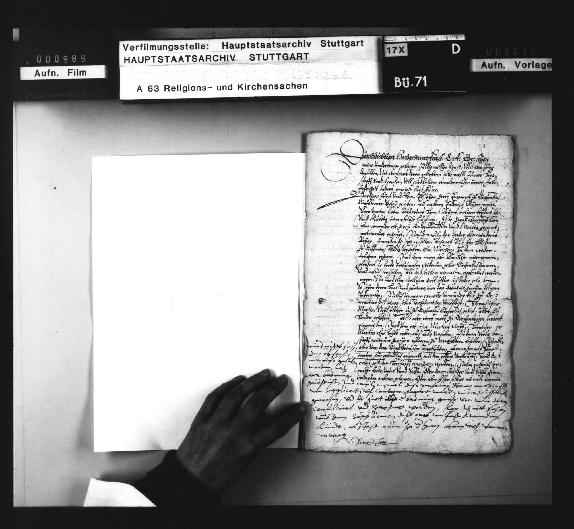 Akten, betreffend den aus dem Maulbronner Amt ausgewanderten Wiedertäufer G. Baier und die Beschlagnahme seines Vermögens., Bild 2