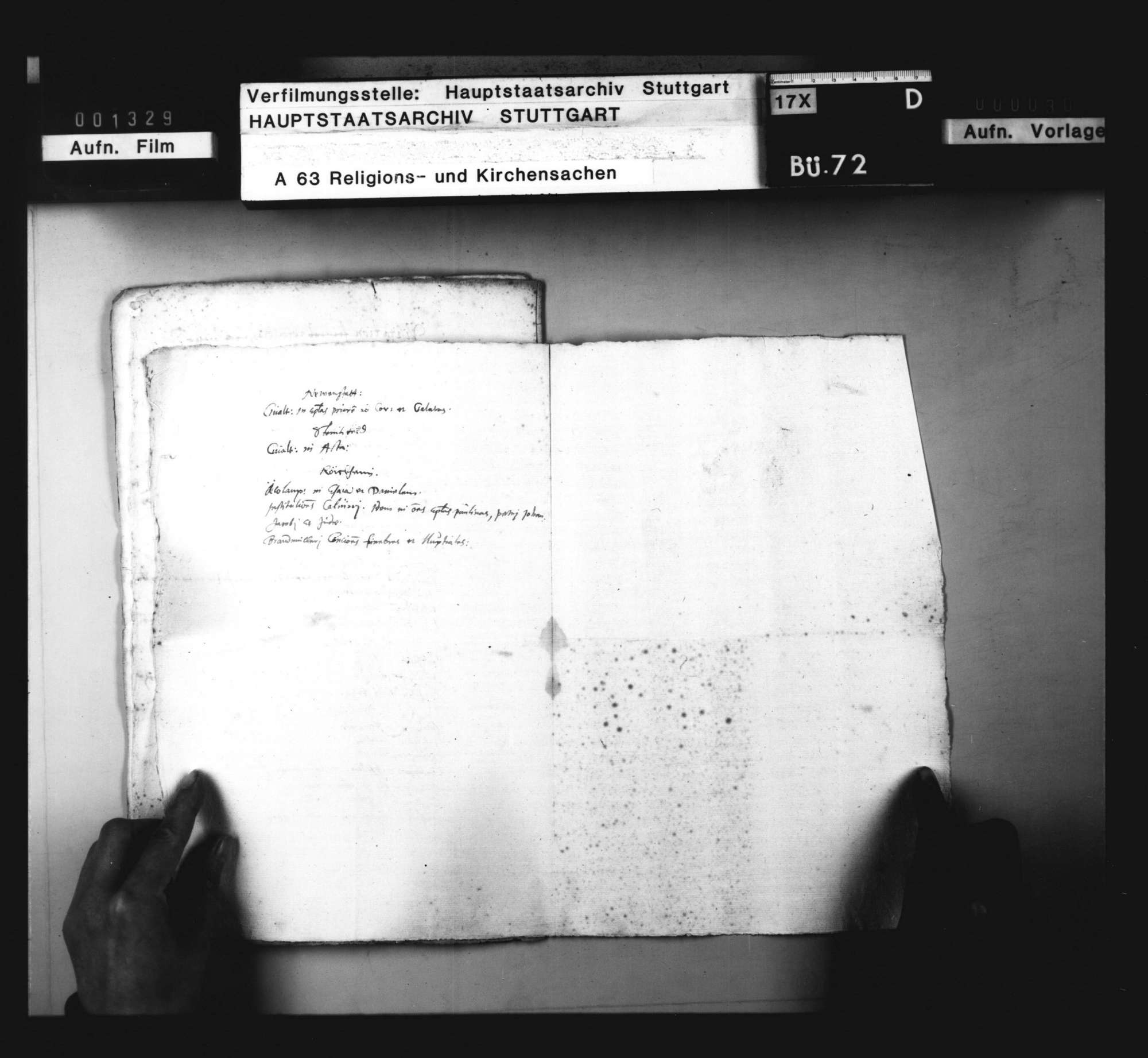 Liste von sektiererischen Büchern, die bei Geistlichen im Weinsberger Bezirk gefunden worden sind., Bild 2