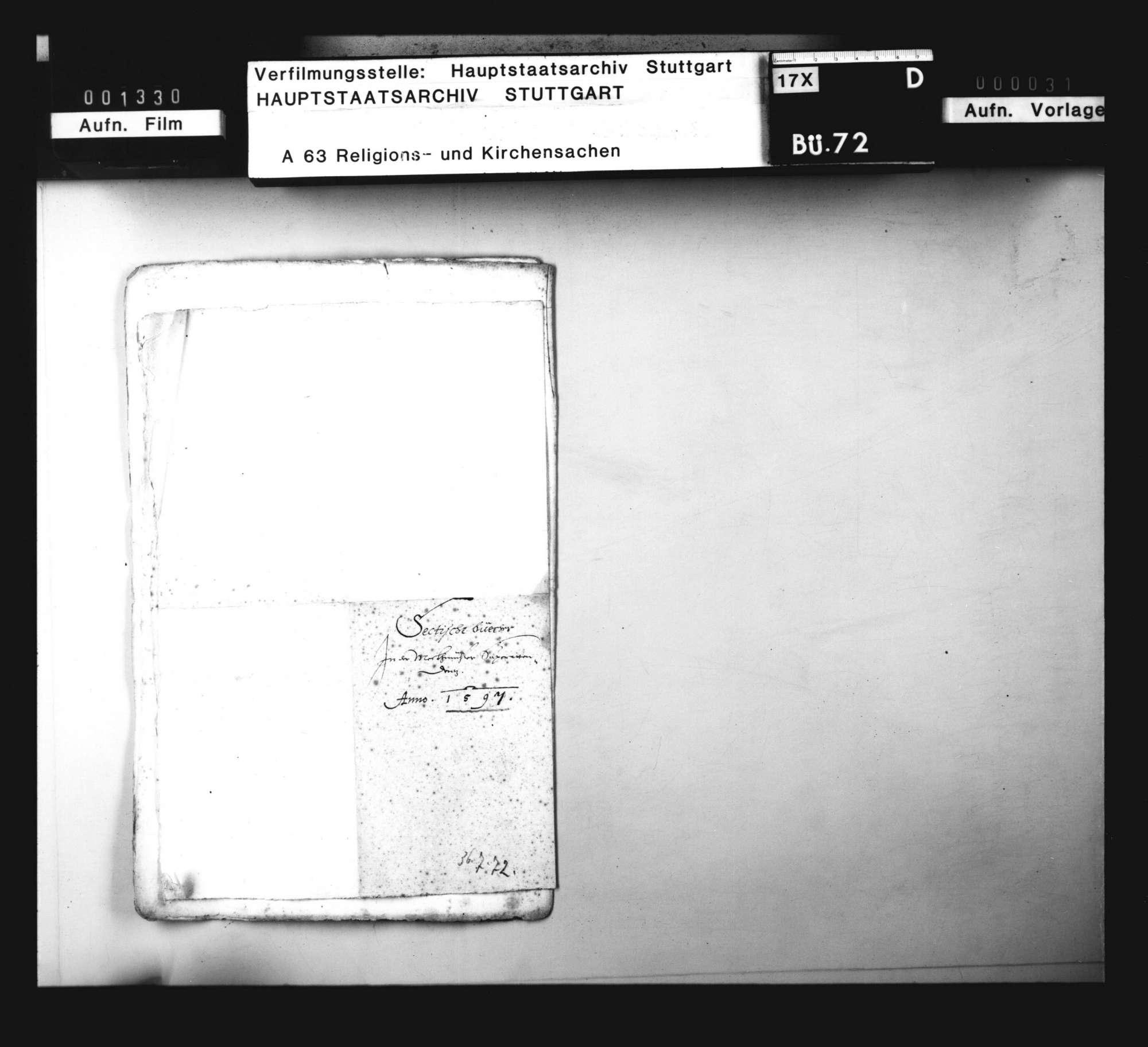 Liste von sektiererischen Büchern, die bei Geistlichen im Weinsberger Bezirk gefunden worden sind., Bild 3